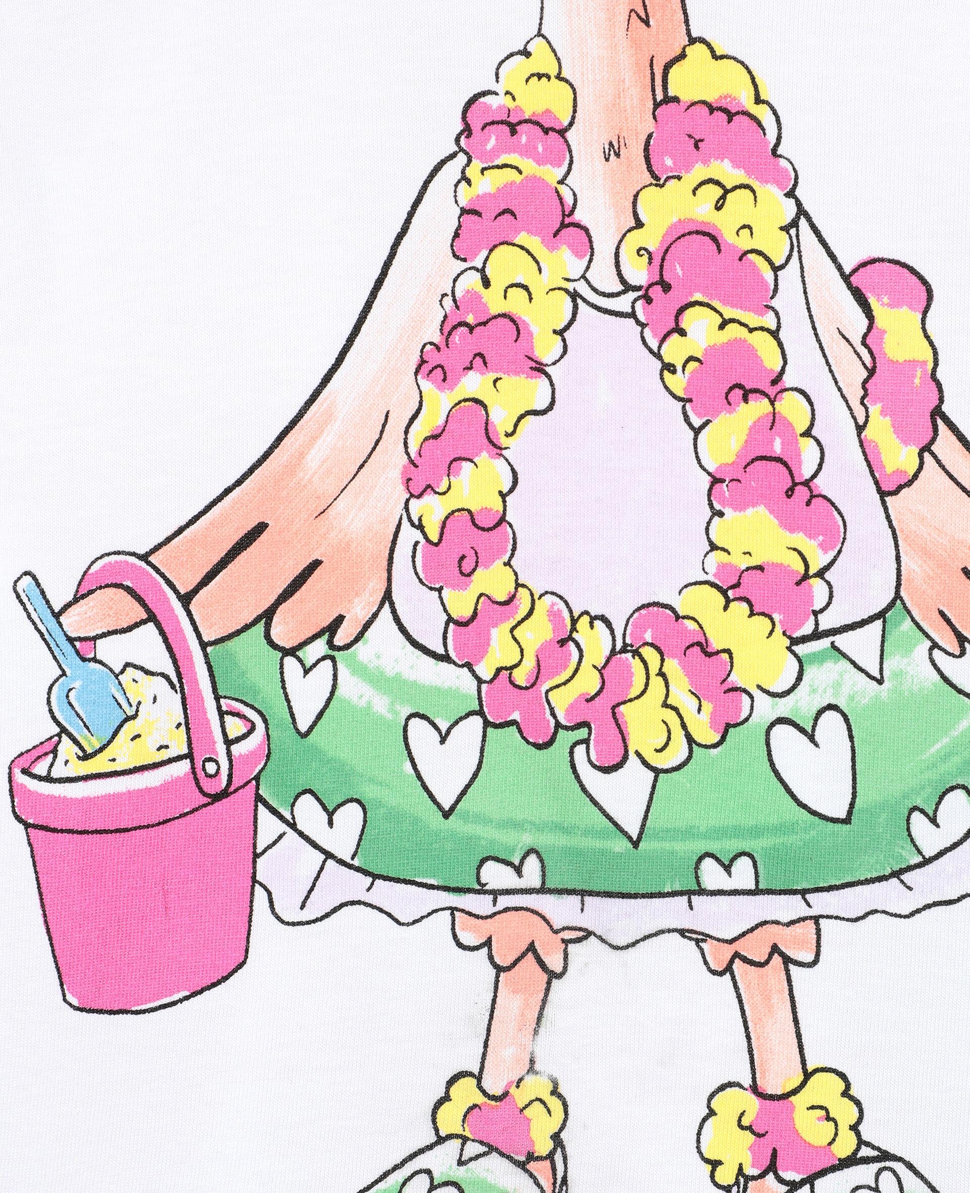 错视效果 Flamingo 棉质 T 恤 -白色-large image number 1
