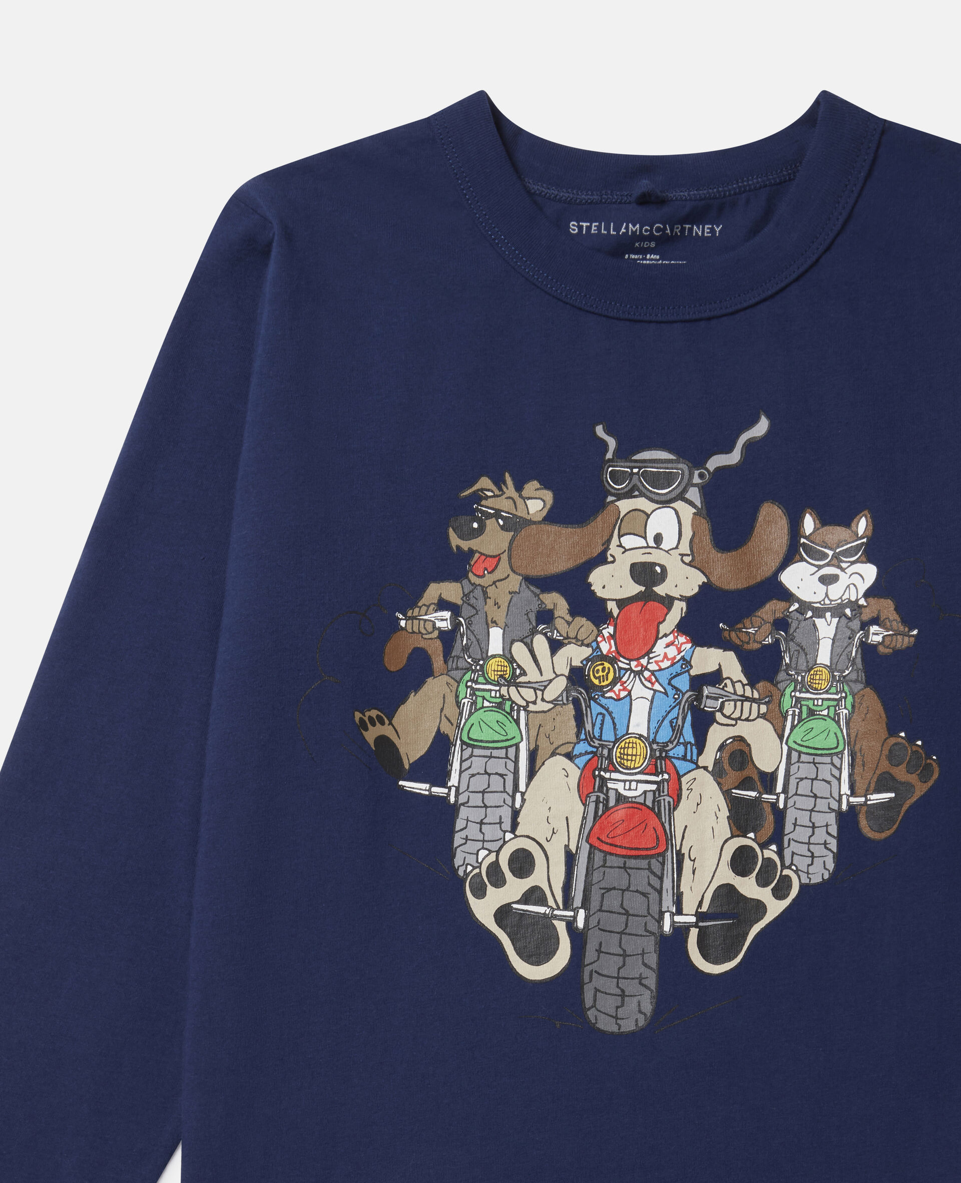 Doggie Riders Oversized Cotton Top-Blue-large image number 1