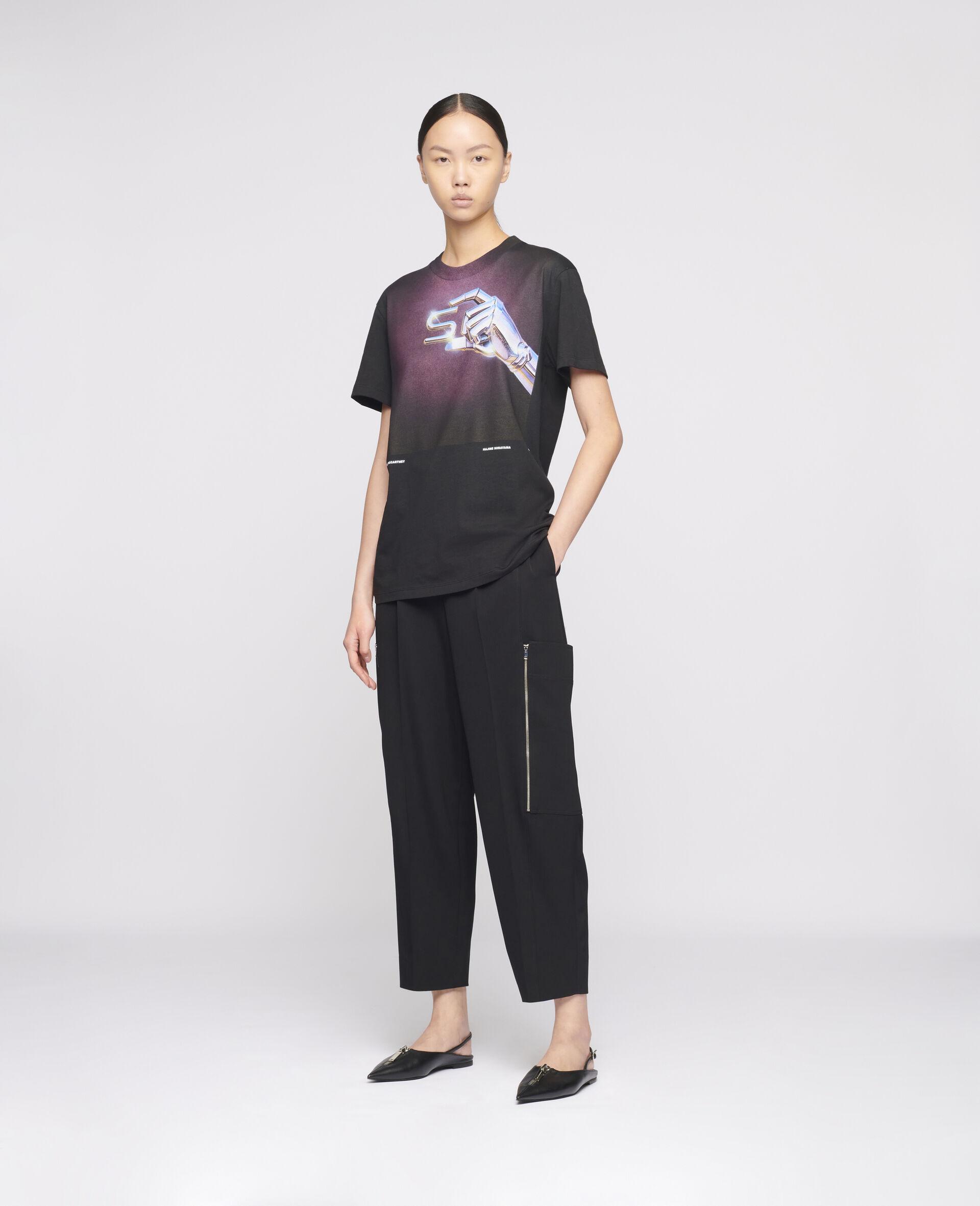 "T-Shirt ""S"" di Hajime Sorayama-Nero-large image number 1"