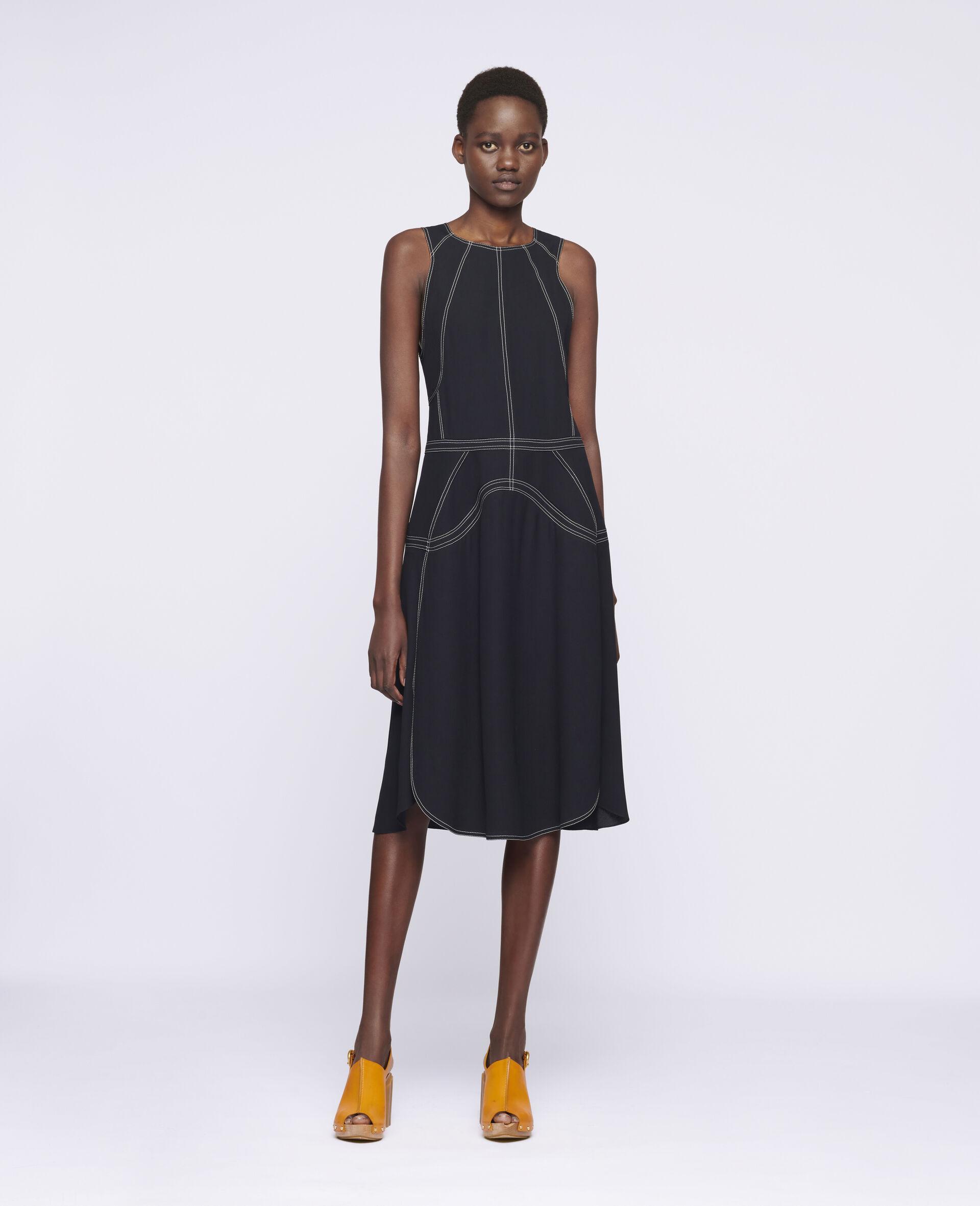 Amber Midi Dress-Black-large image number 1