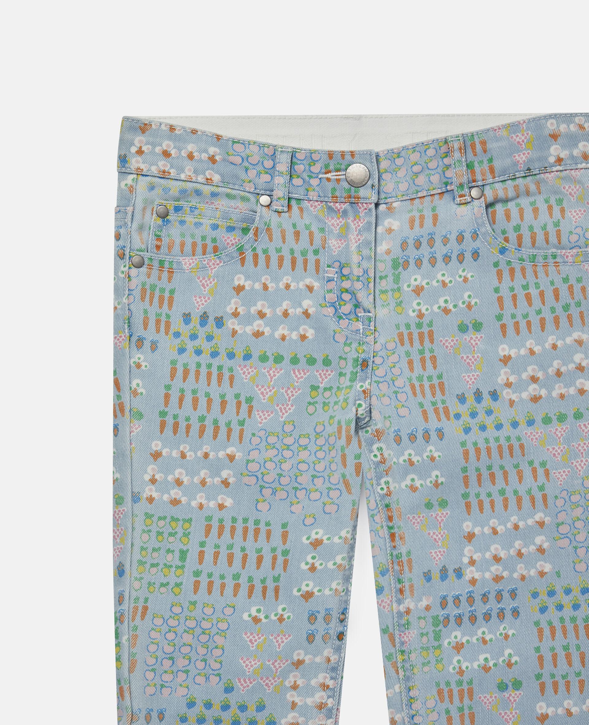 Garden Denim Trousers -Multicolour-large image number 1