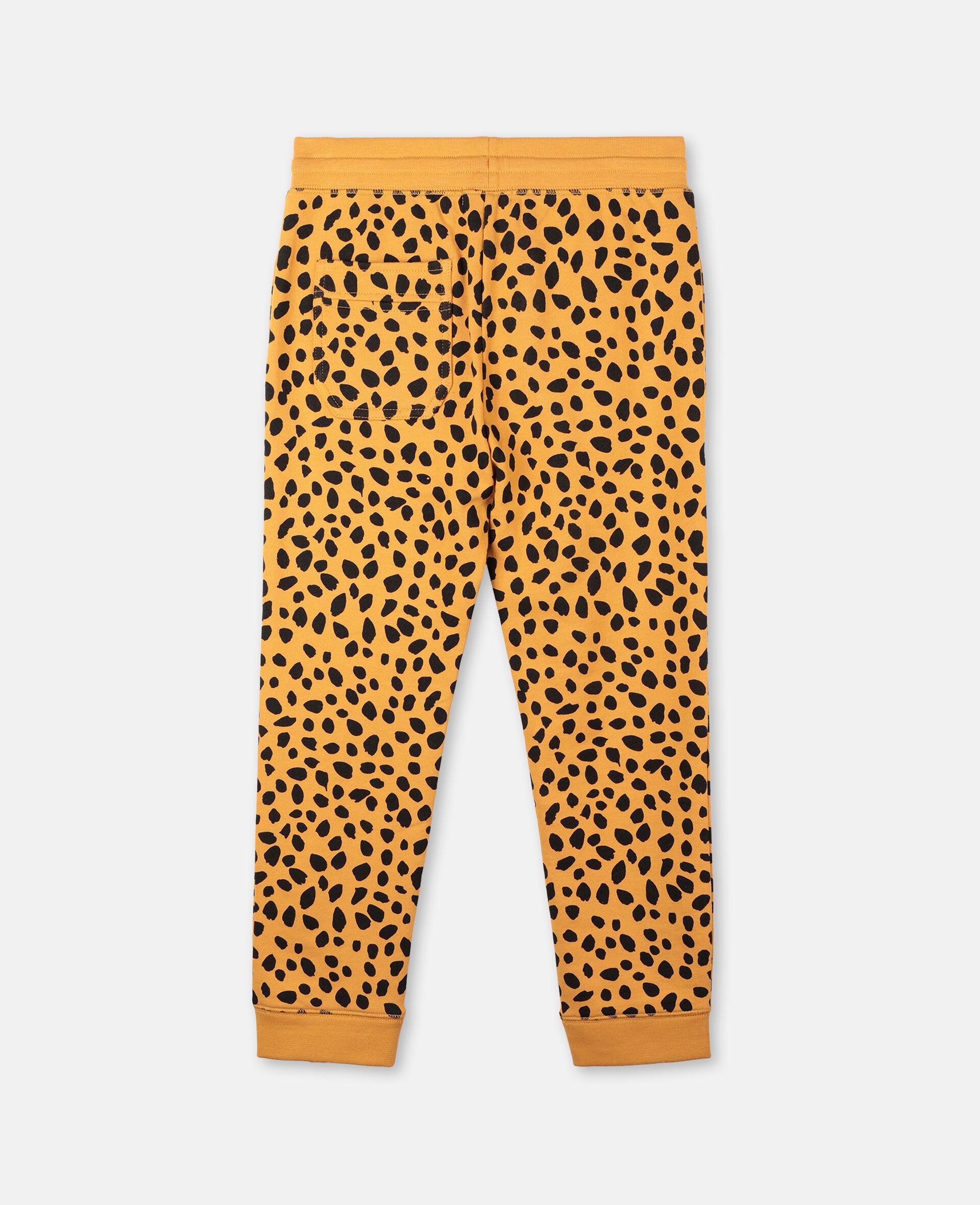 Cheetah Dots Cotton Joggers  -Multicolour-large image number 3