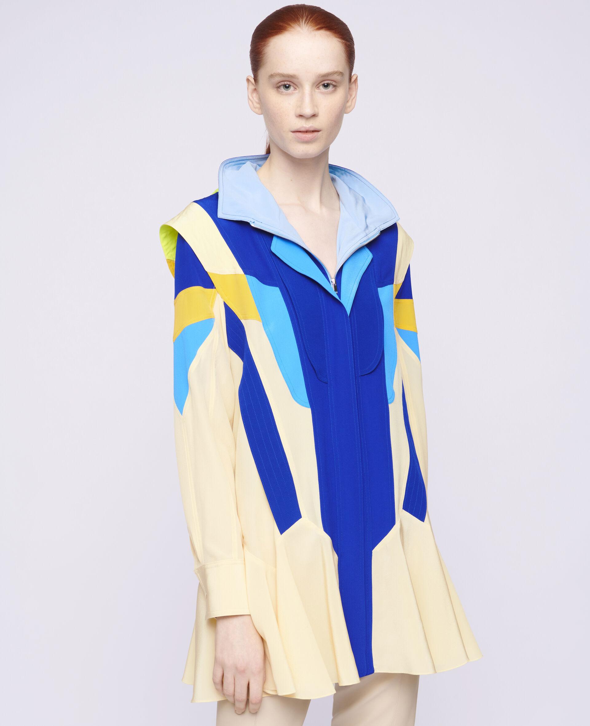 Monica Silk Dress-Beige-large image number 3
