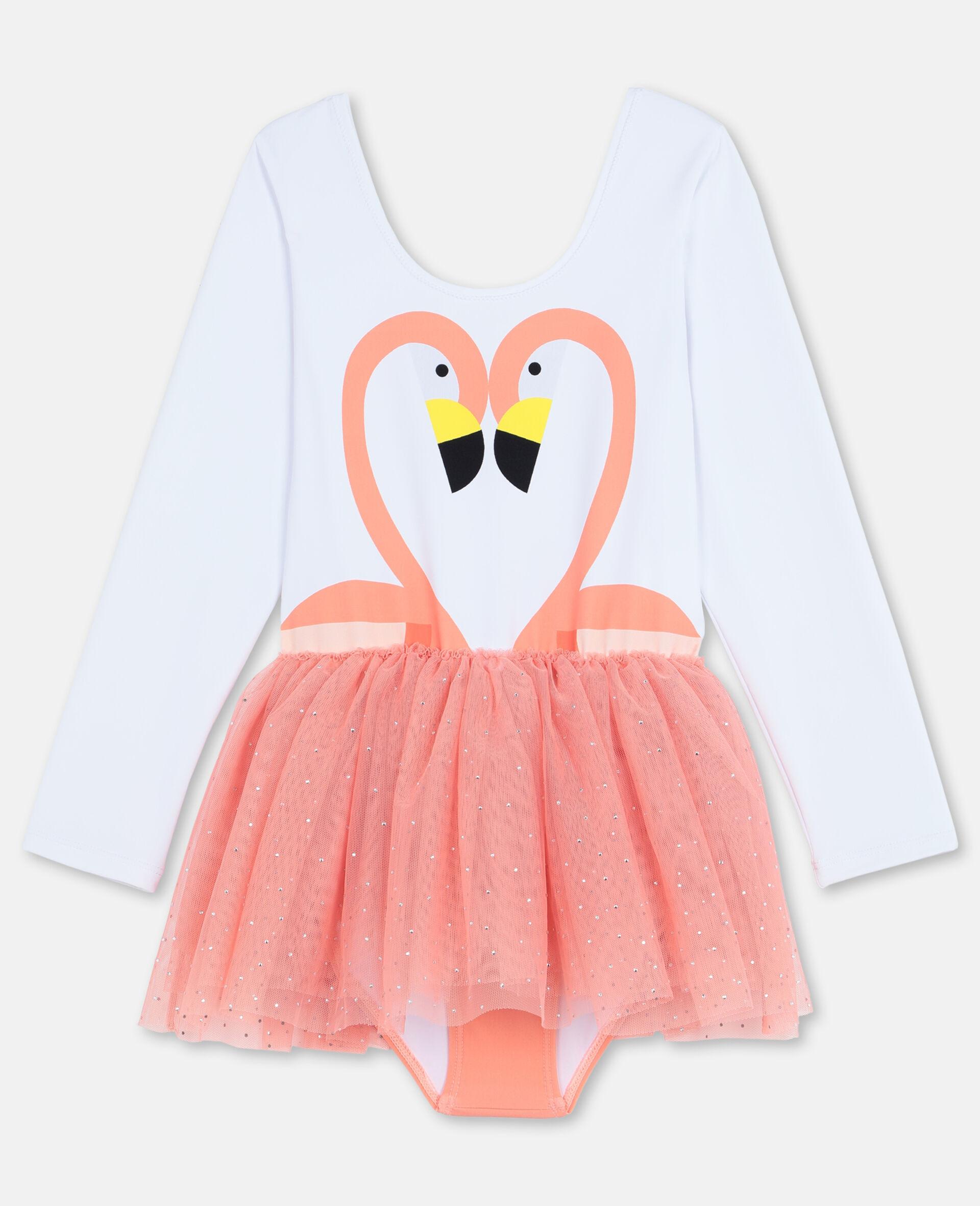 Flamingo Dress-White-large image number 0