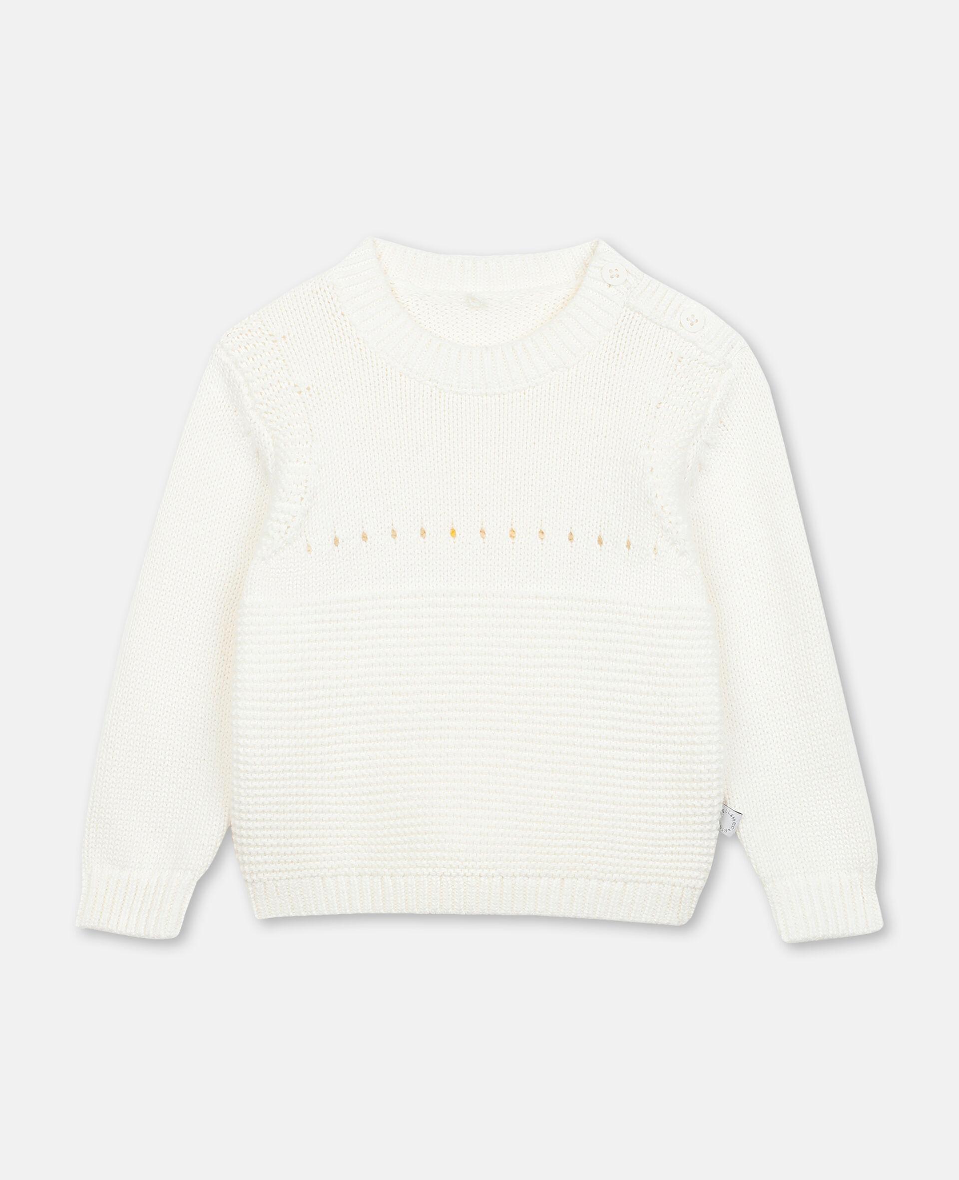 Bunny Knit Jumper -White-large image number 0