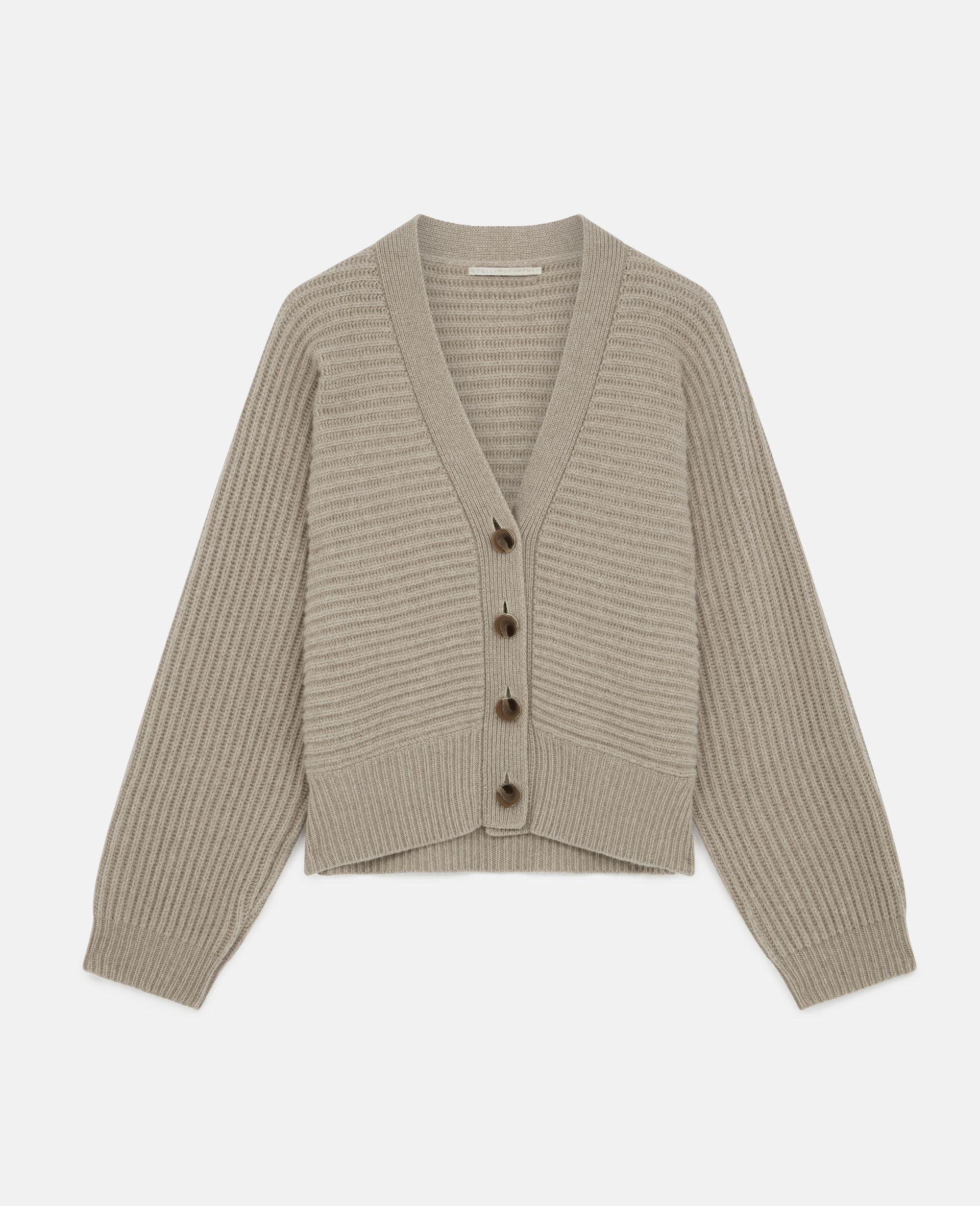 Soft Knit Cardigan -Beige-large image number 0