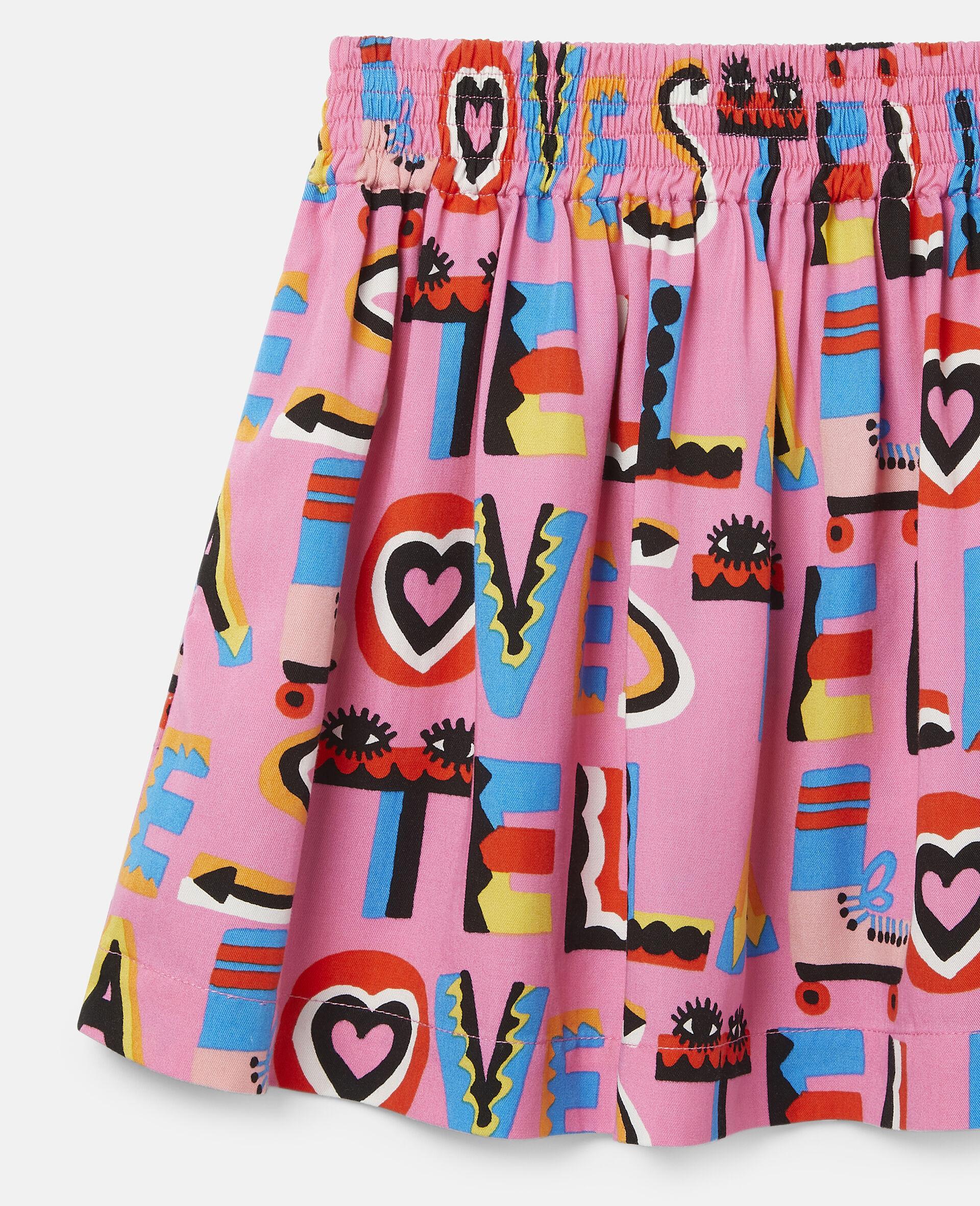 Stella Loves Twill Skirt-Pink-large image number 2