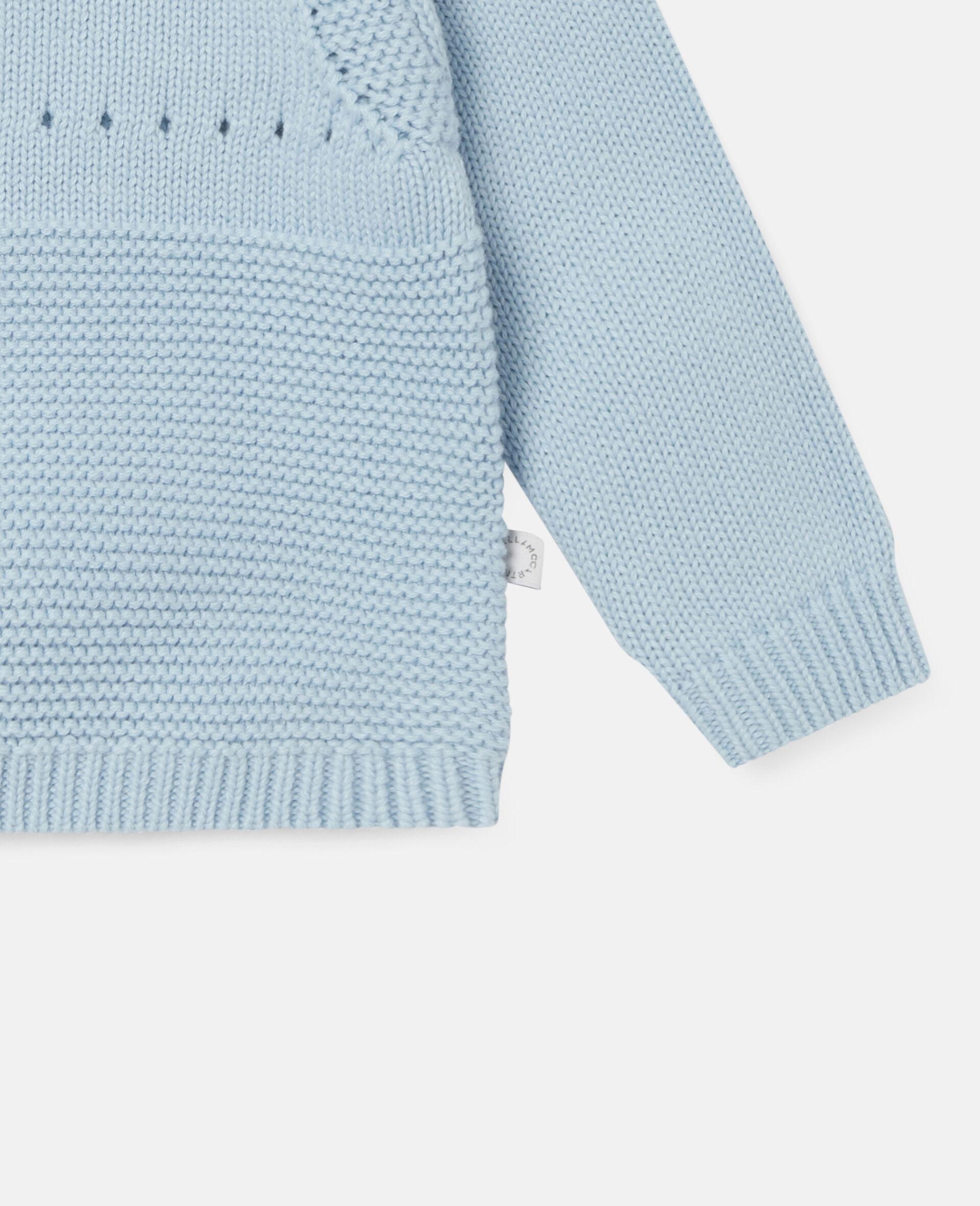 Happy Dog Knit Intarsia Sweater-Blue-large image number 2