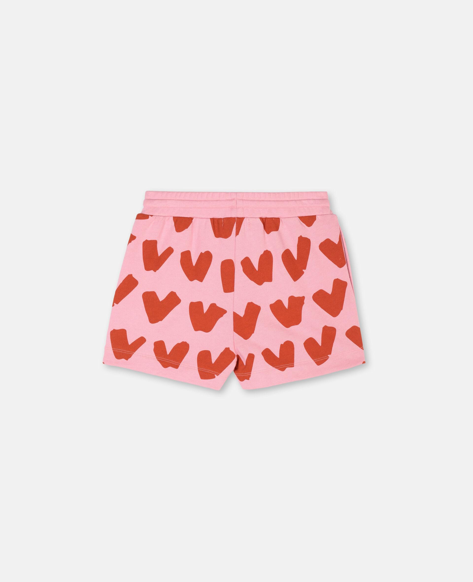 Baumwollfleece-Shorts mit Herzen-Rose-large image number 3