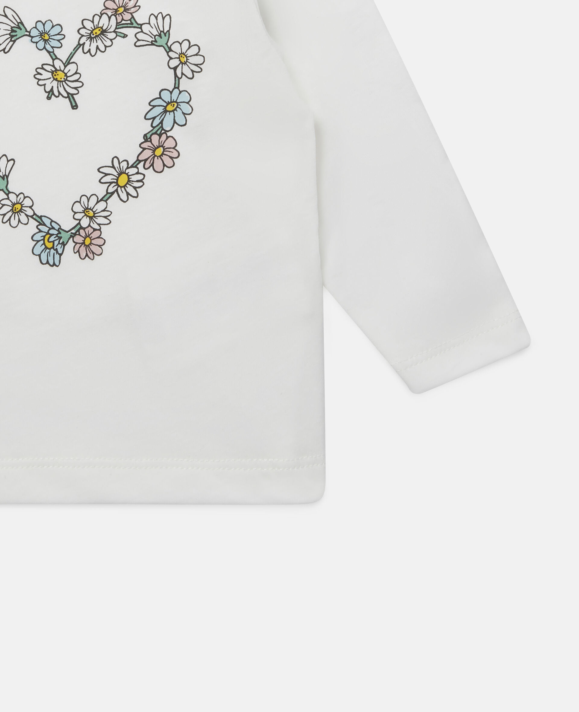Daisy Heart Cotton Top-White-large image number 2