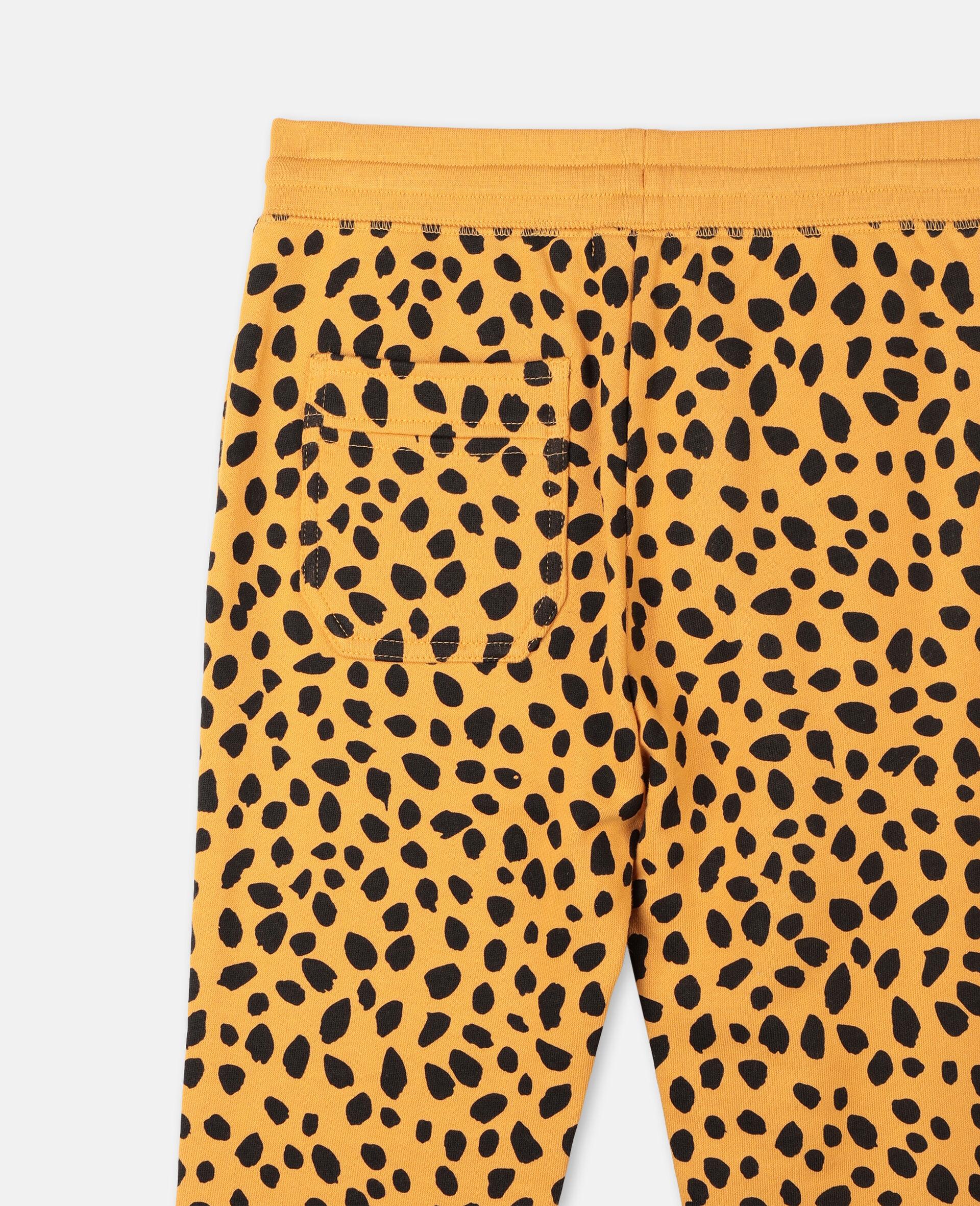 Baumwoll-Jogginghose mit Gepardenpunkte-Print  -Bunt-large image number 2