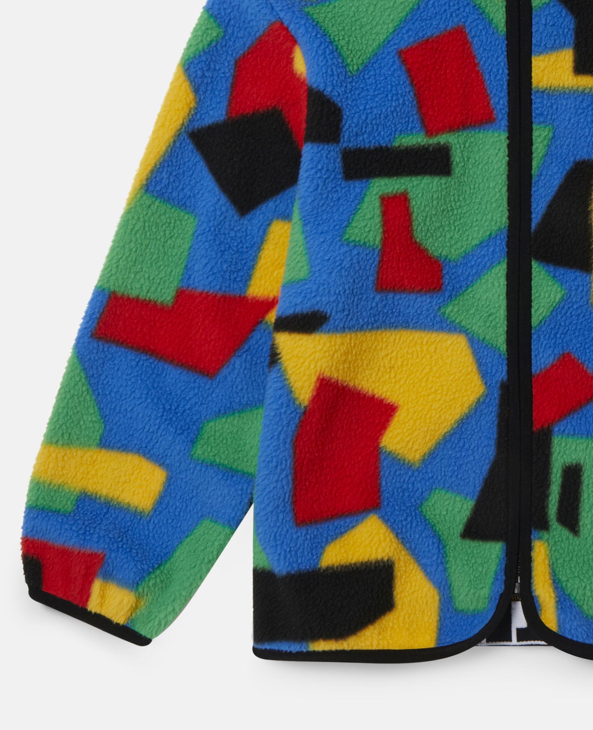Colourblock Polar Fleece Ski Cardigan-Multicolour-large image number 2