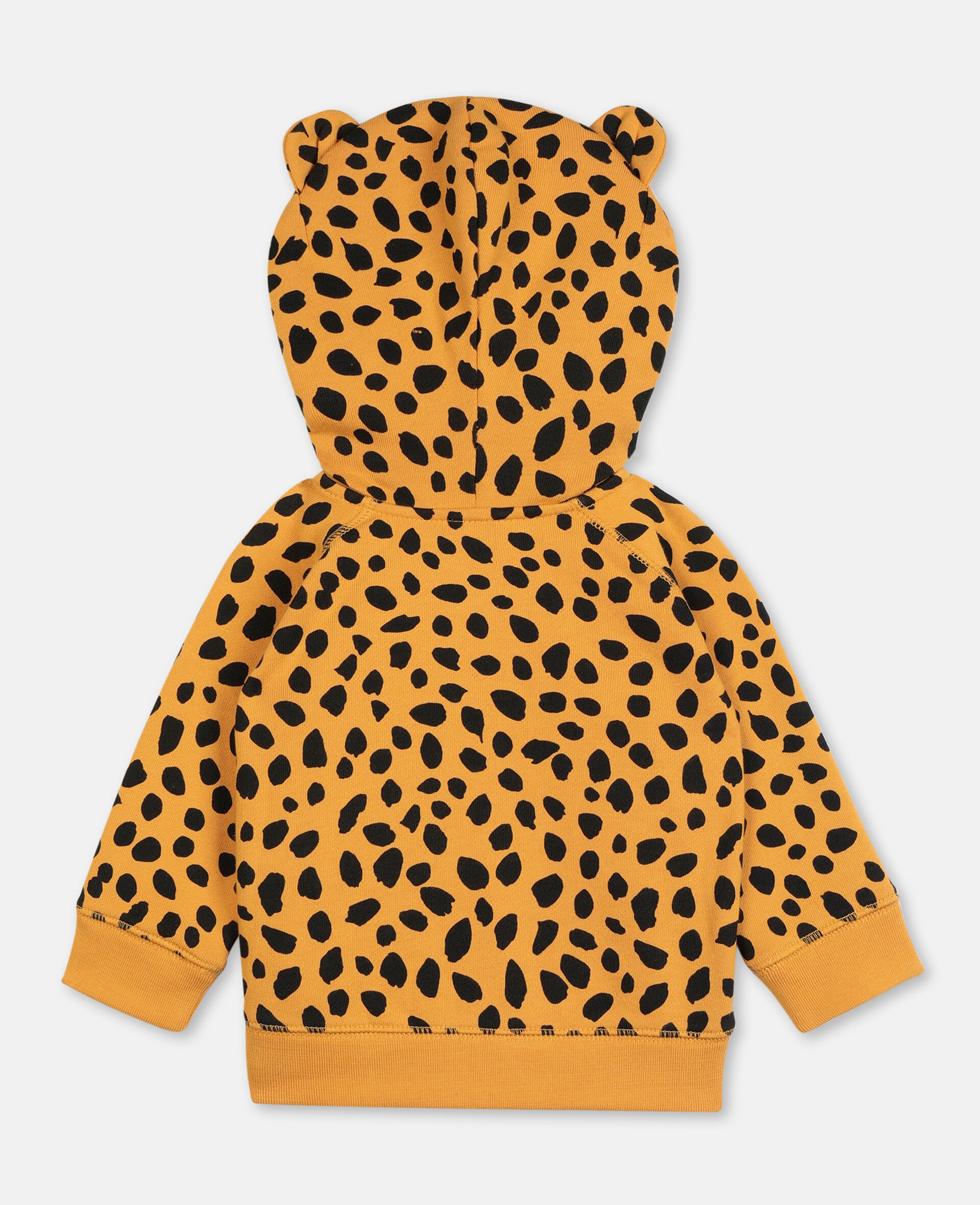 Cheetah Dots Cotton Hoodie -Multicolour-large image number 4