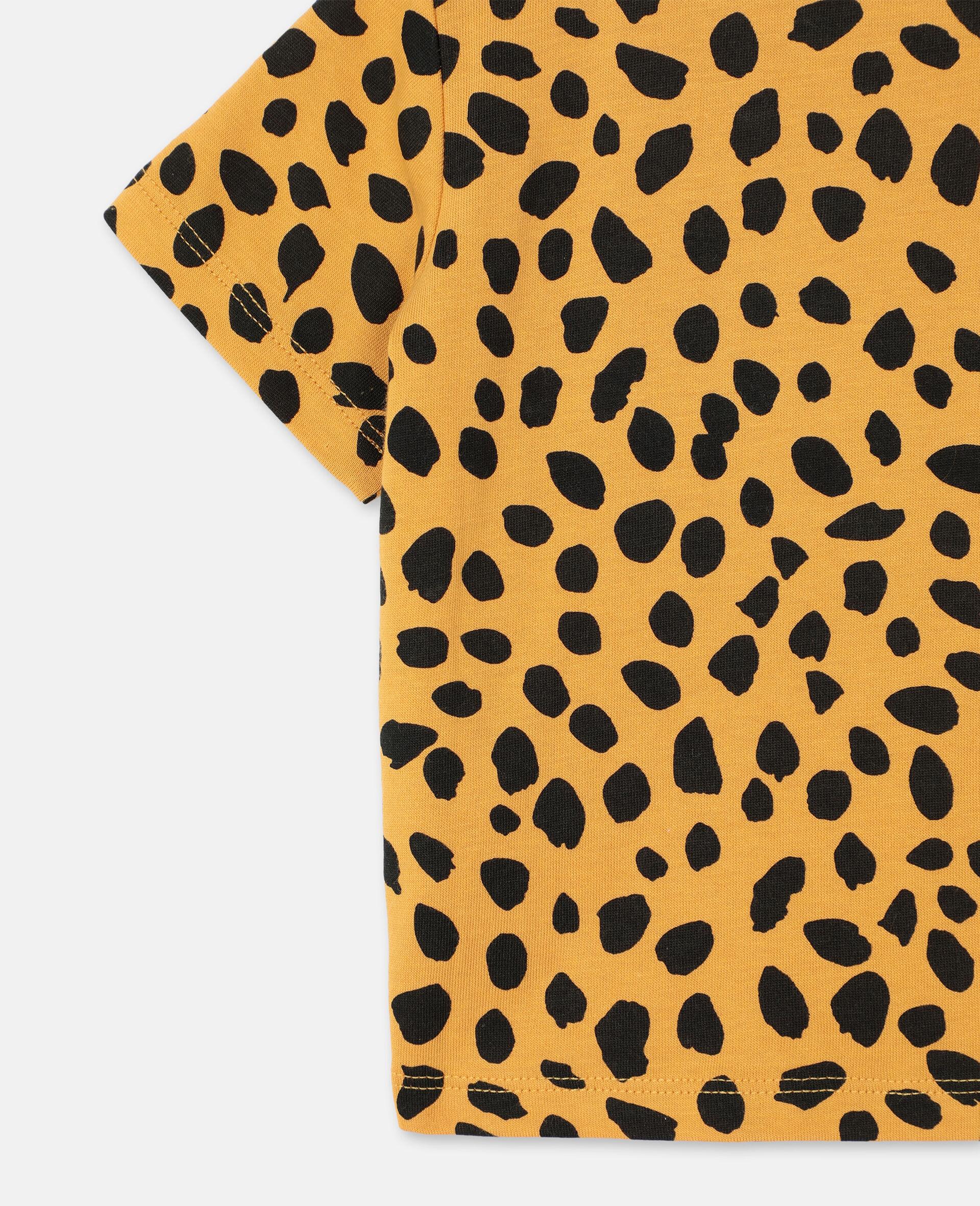 Cheetah Cotton T-shirt -Orange-large image number 2