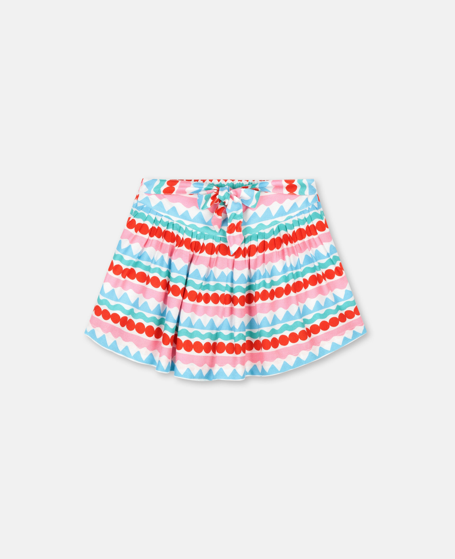 Graphic Striped Shorts-Multicolour-large image number 0