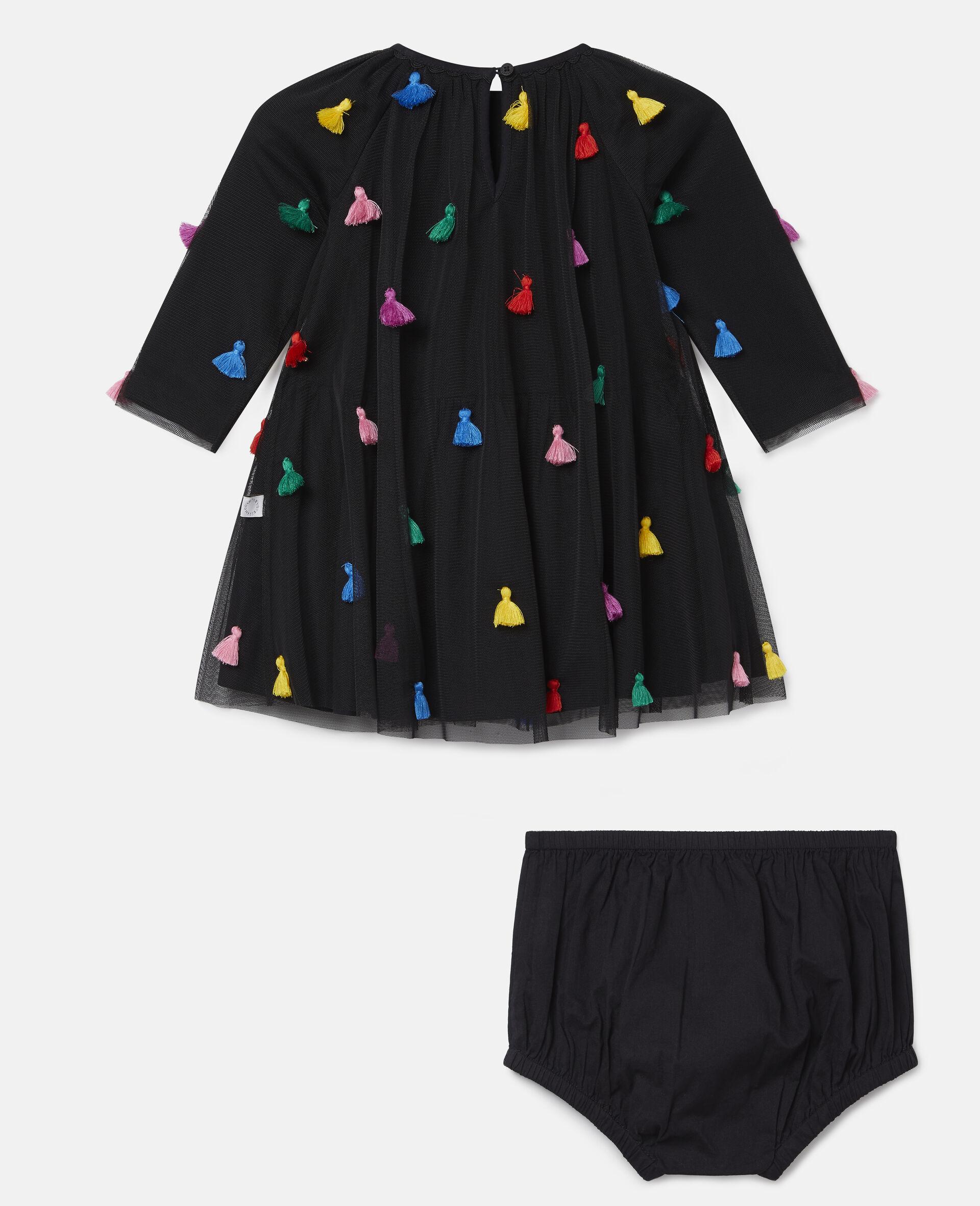 Tassels Tulle Dress-Black-large image number 3