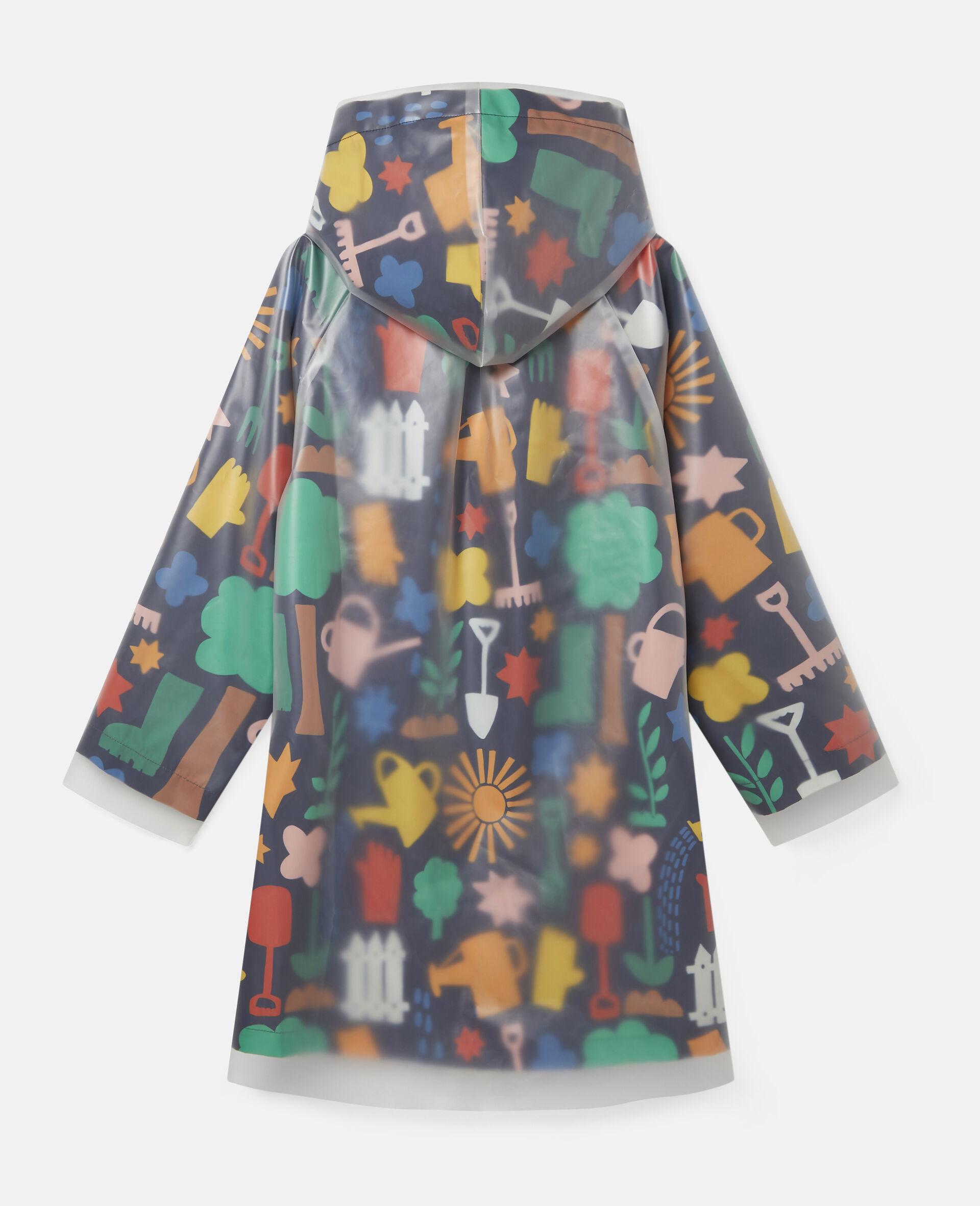 Garden Hooded Raincoat-Blue-large image number 3
