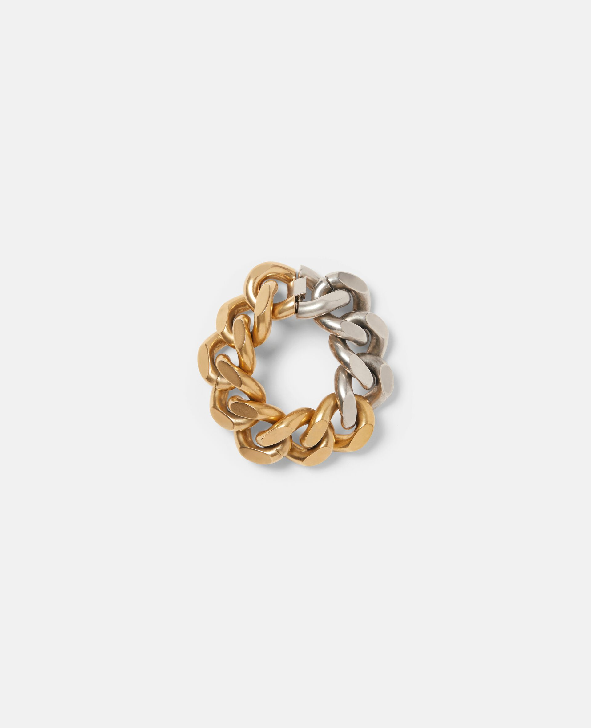 Bicolor Chunky Bracelet-Yellow-large image number 1