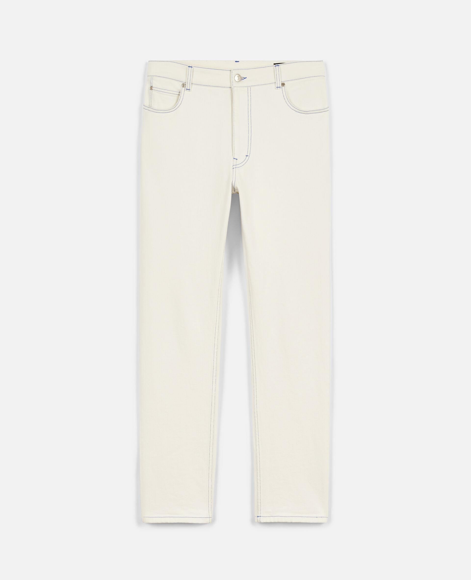 Pantaloni in Denim 23 OBS  -Bianco-large image number 0