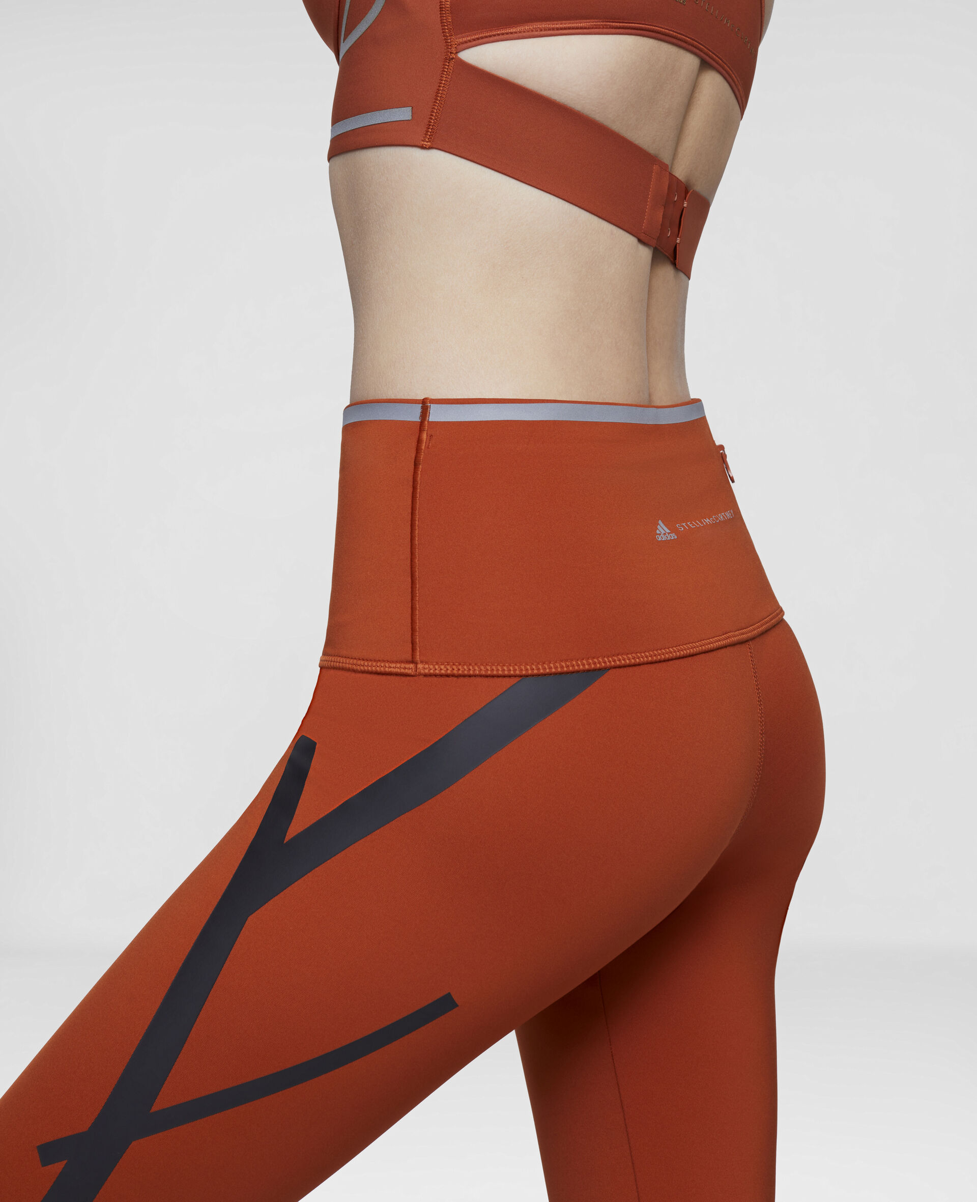 Orange TruePace Running Tights-Orange-large image number 3