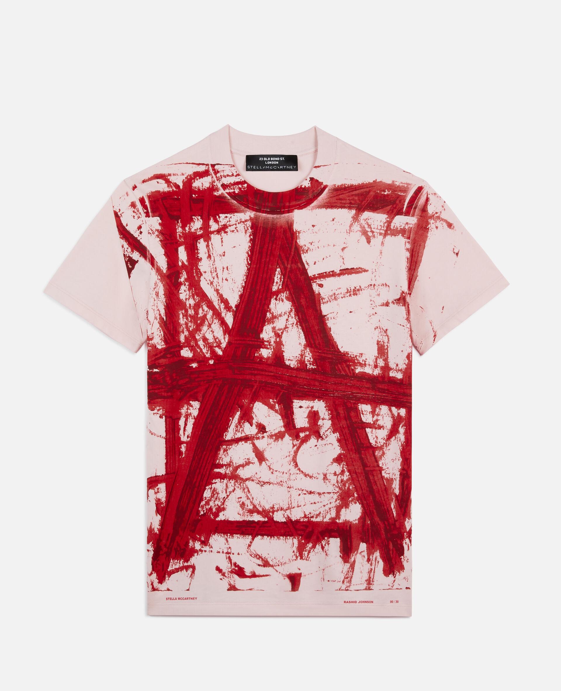"Rashid Johson 字母""A"" T 恤-粉色-large image number 0"