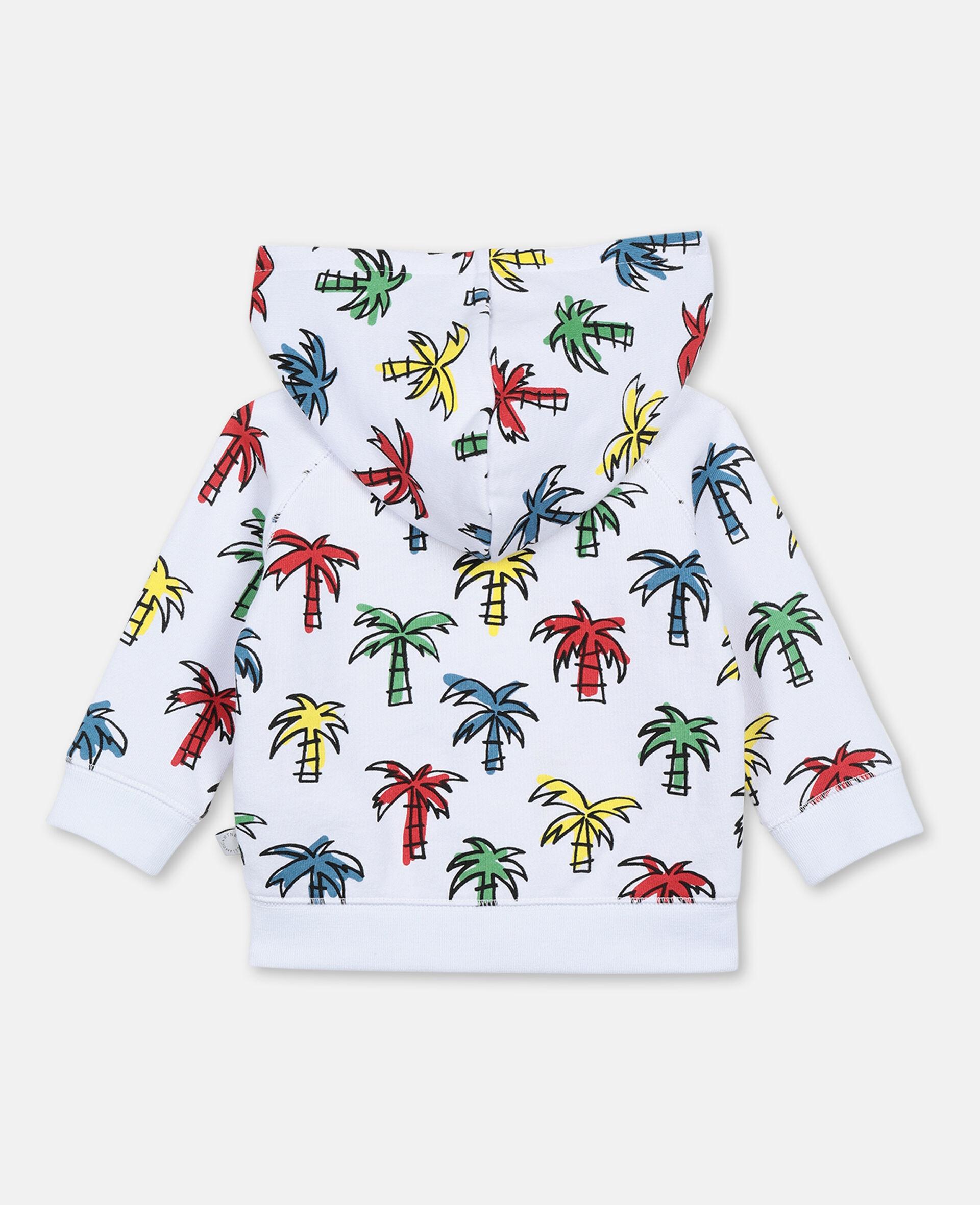 Sweat-shirt à capuche à palmiers gribouillés-Fantaisie-large image number 3