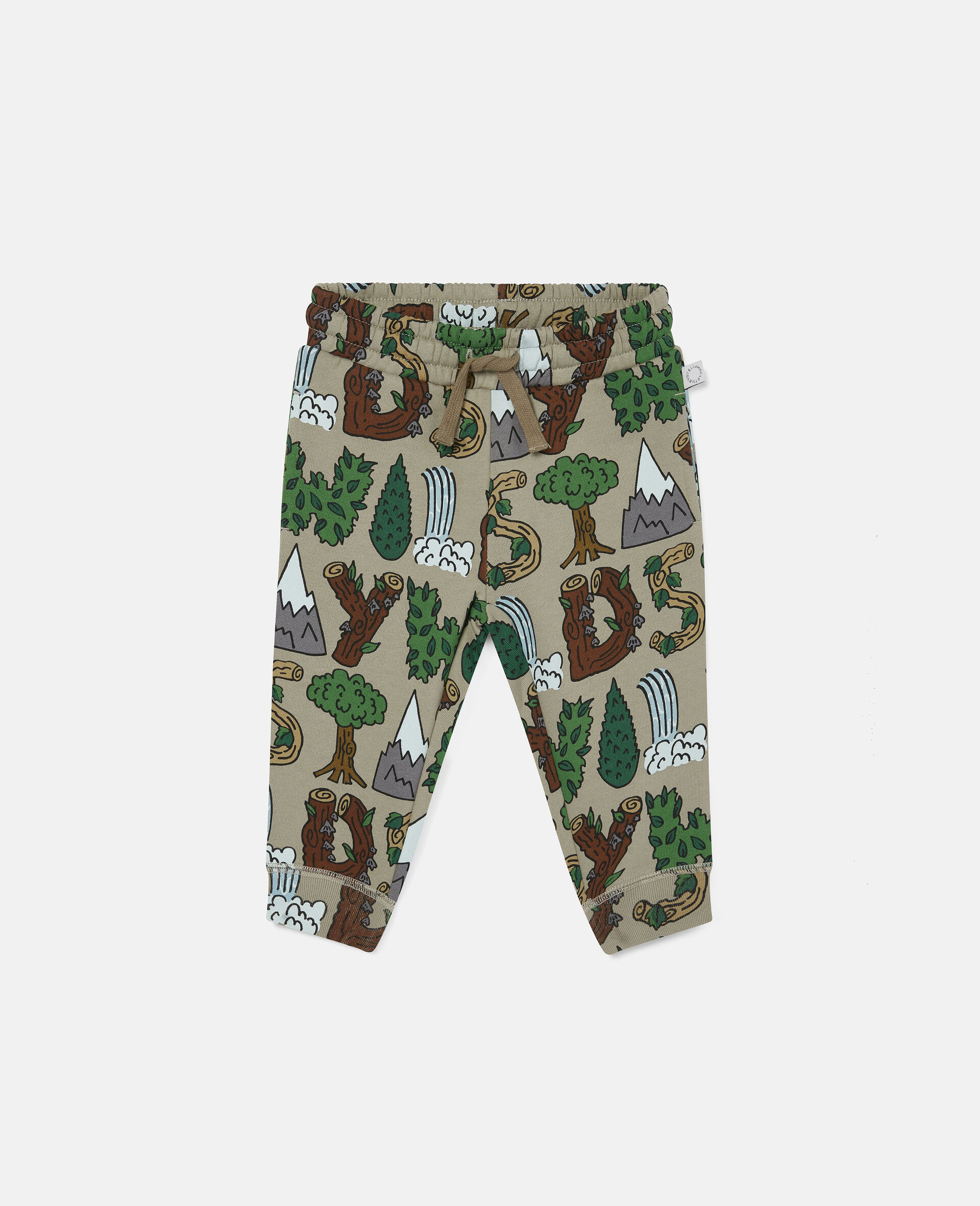 """Pantaloni Sportivi """"Stay Wild"""" in Cotone-Verde-large image number 0"""
