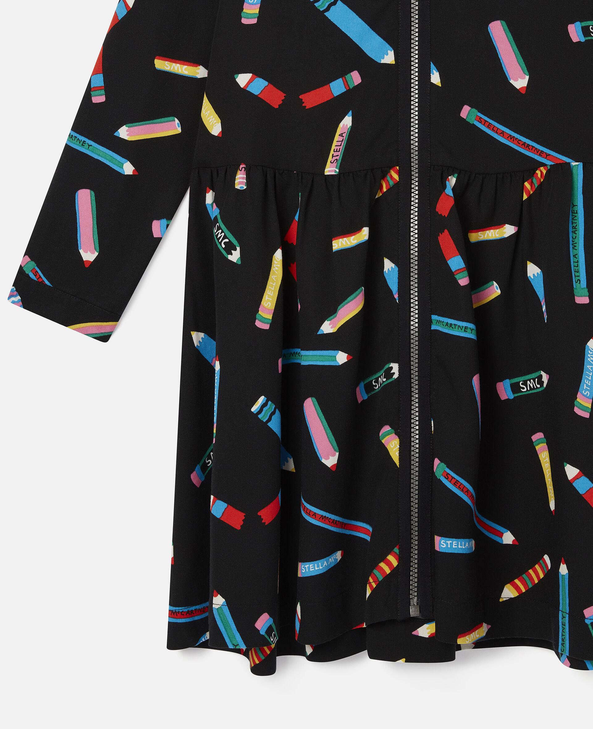 Pencils Twill Dress -Black-large image number 1