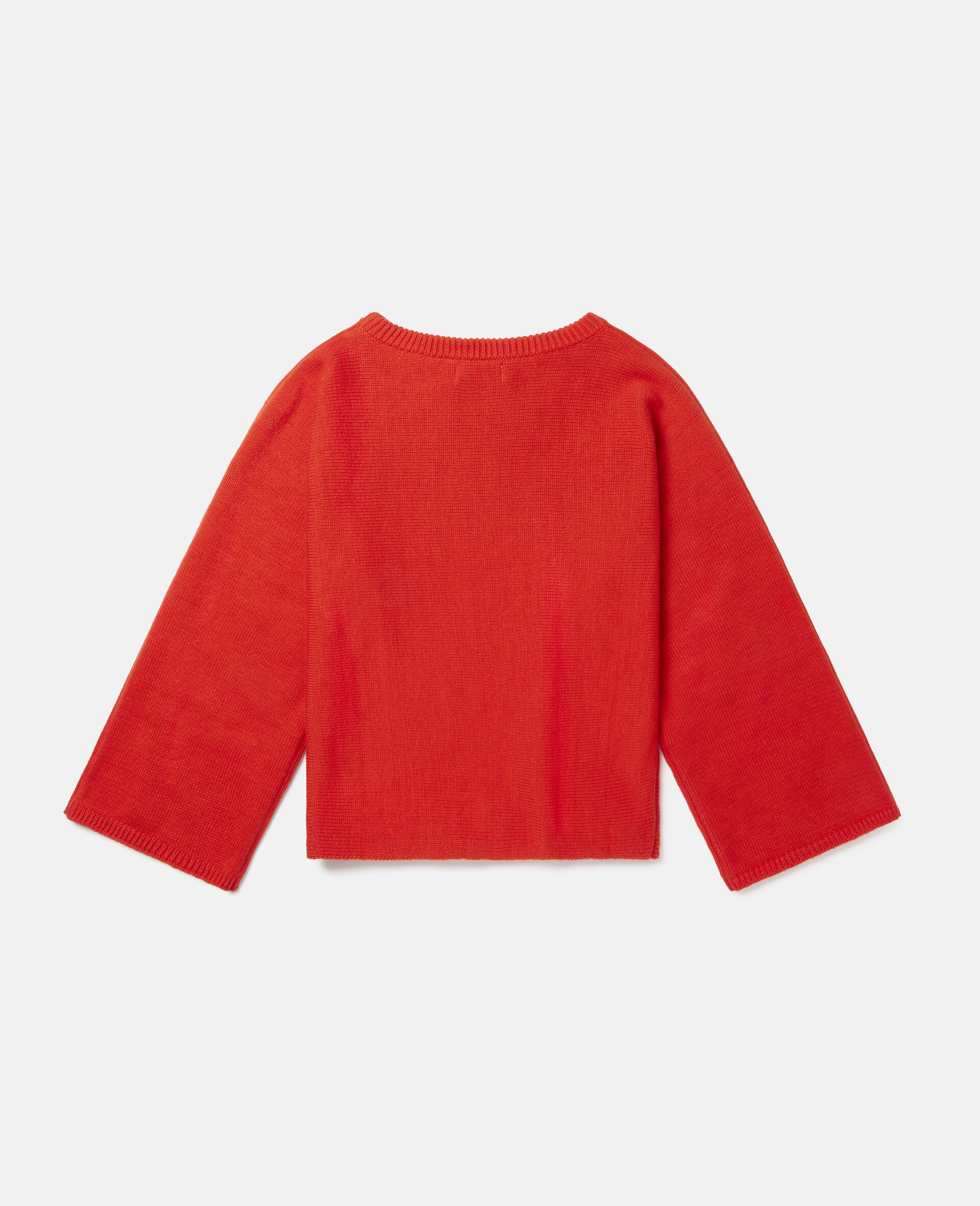 Stella Pencil Knit Intarsia Jumper -Red-large image number 3
