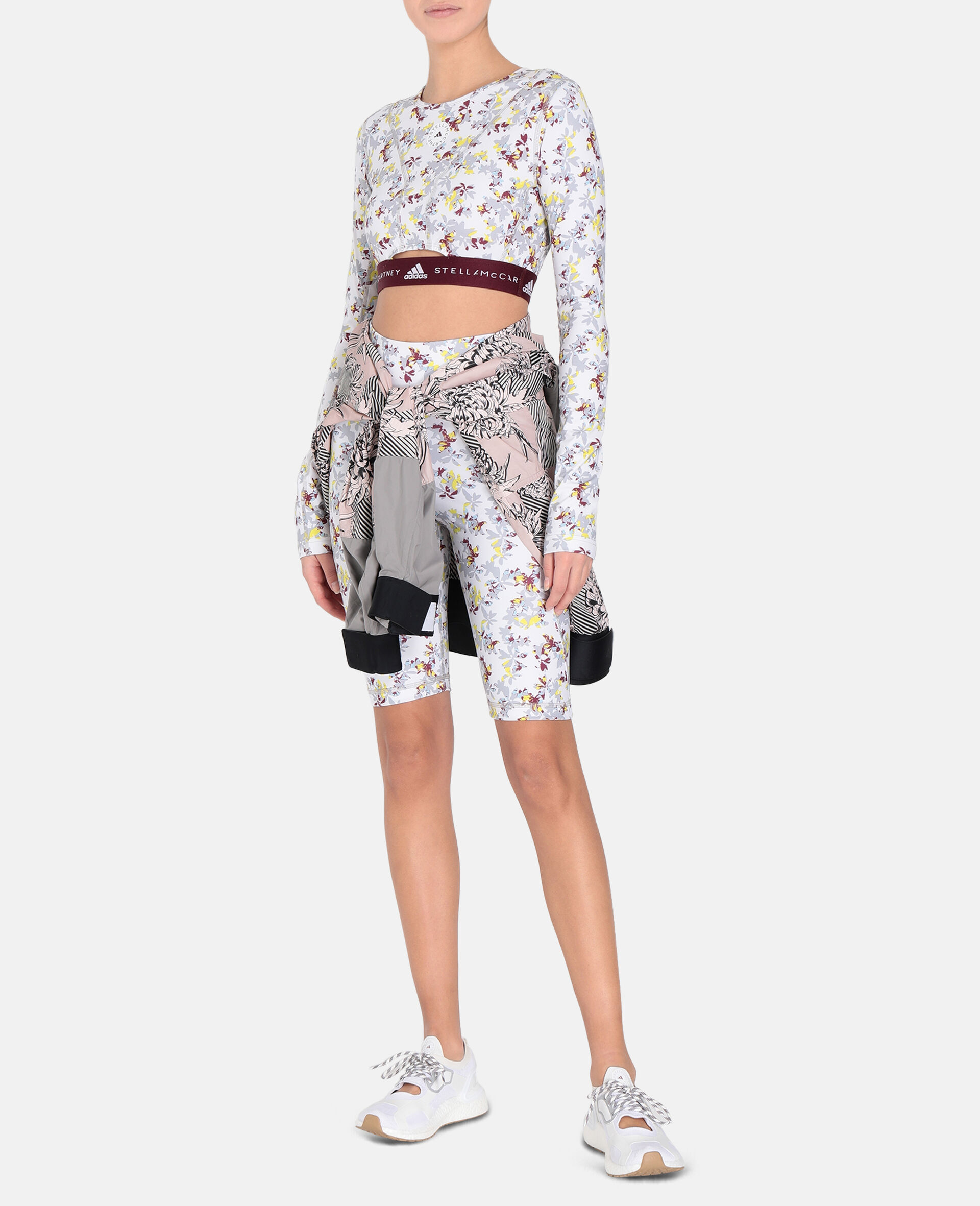 Future Playground Long-Sleeved Crop Top -White-large image number 1