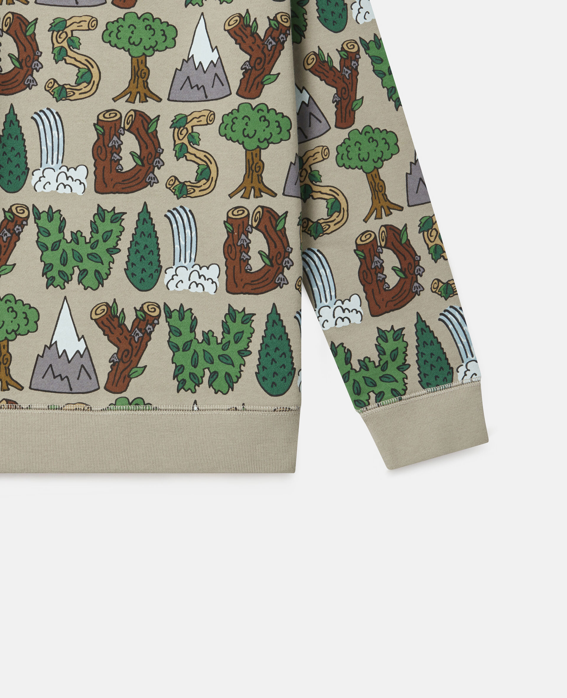 Stay Wild' Fleece Sweatshirt-Green-large image number 2
