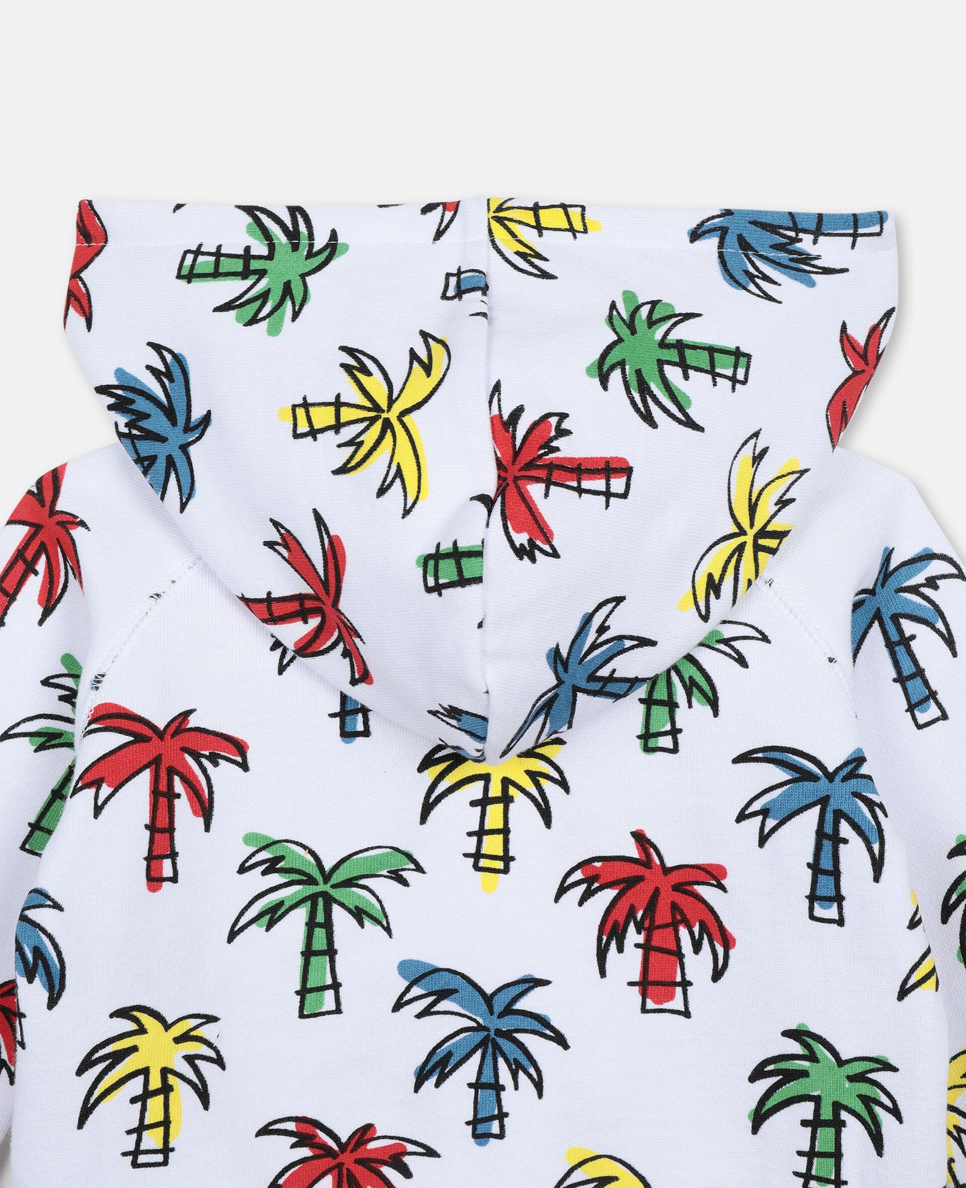 Sweat-shirt à capuche à palmiers gribouillés-Fantaisie-large image number 1