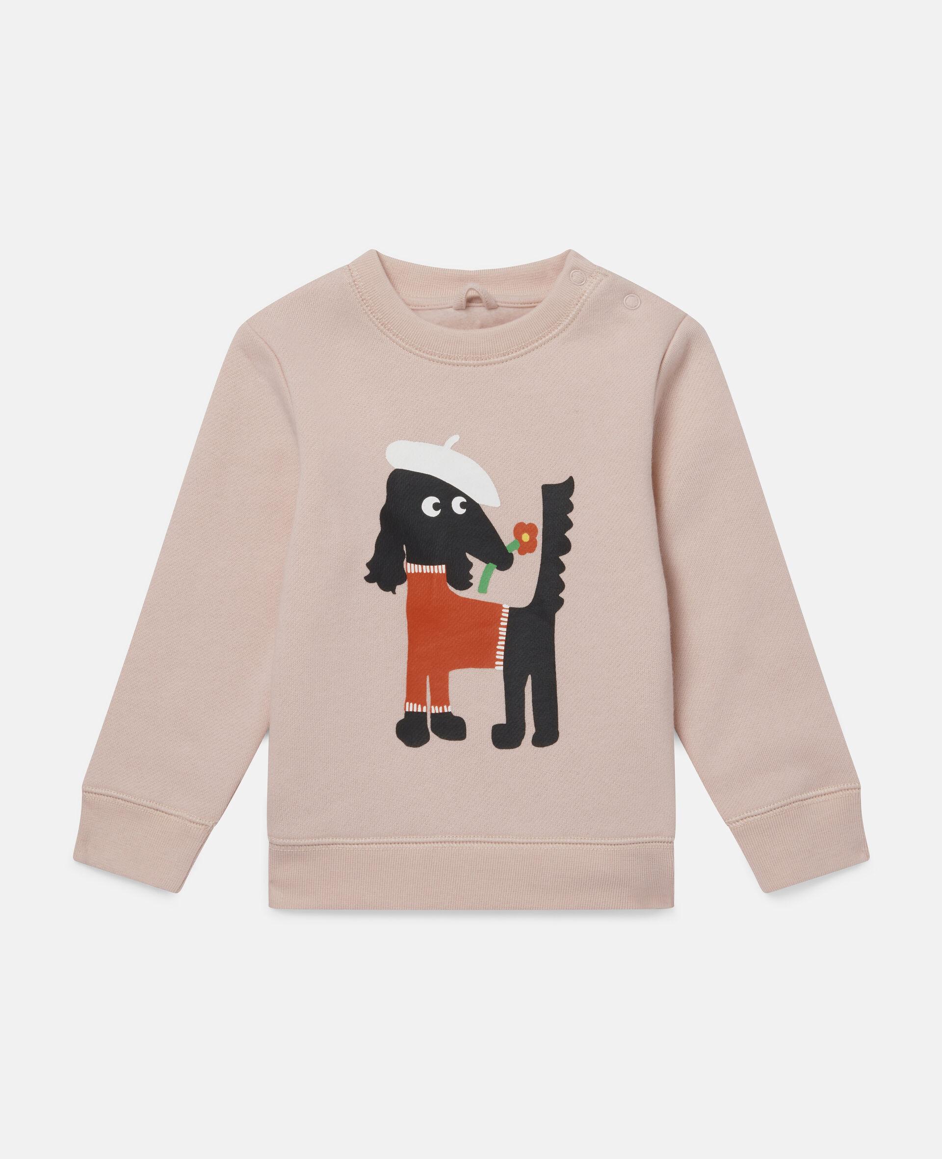 Sissy Dog Fleece Sweatshirt-Pink-large image number 0