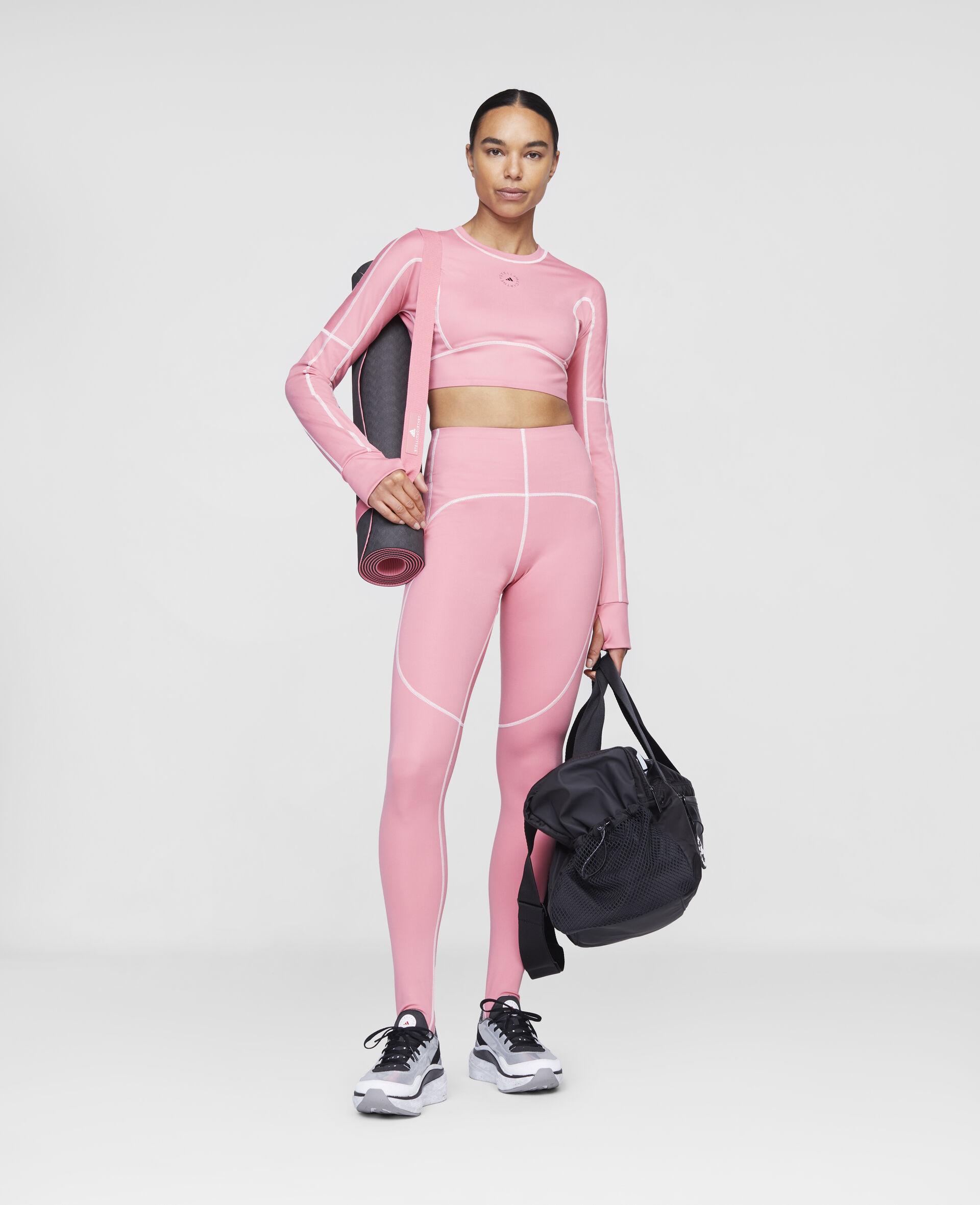 Hazy Rose Yoga High Waist Tights-Pink-large image number 1