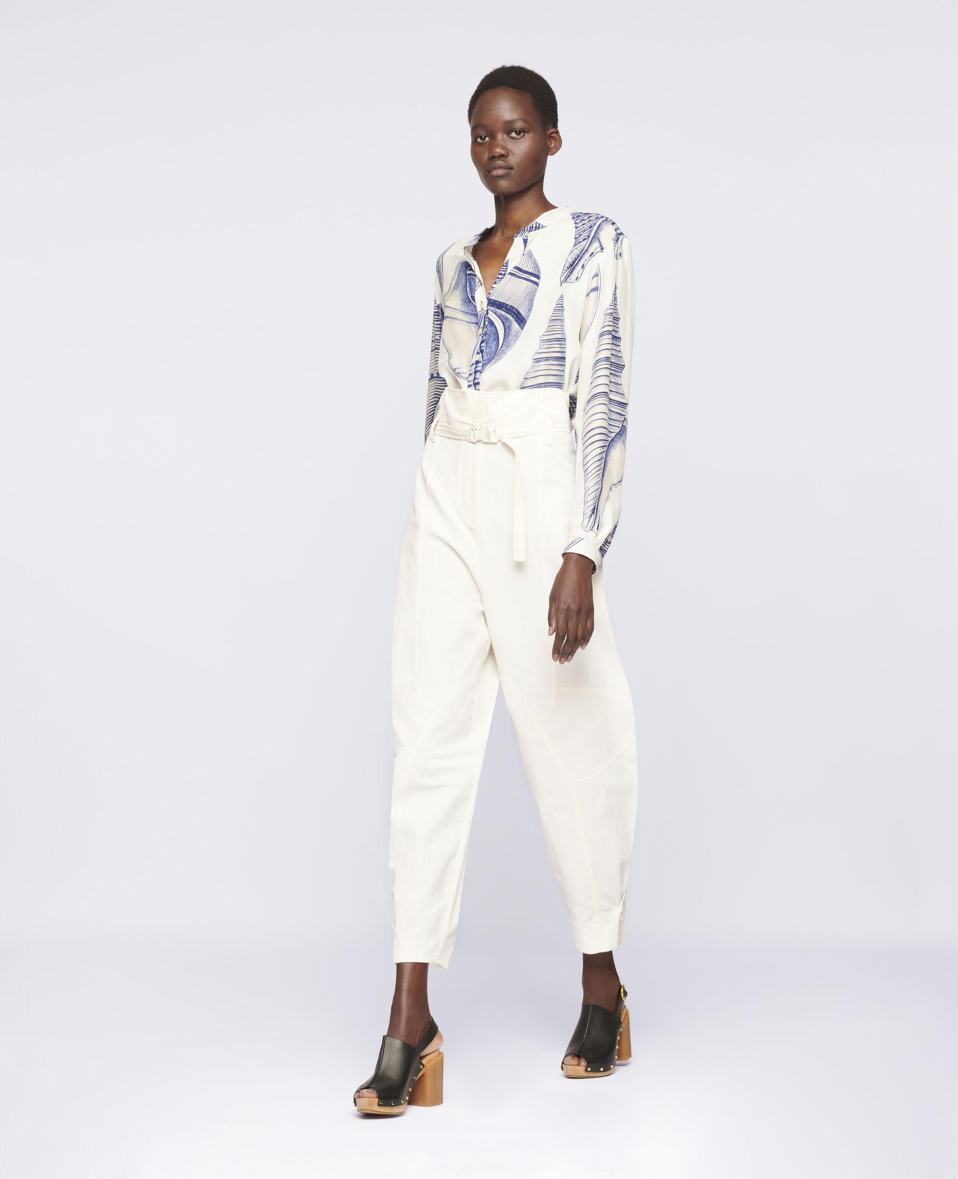 Pantalon Daisy fuselé-Blanc-large image number 1