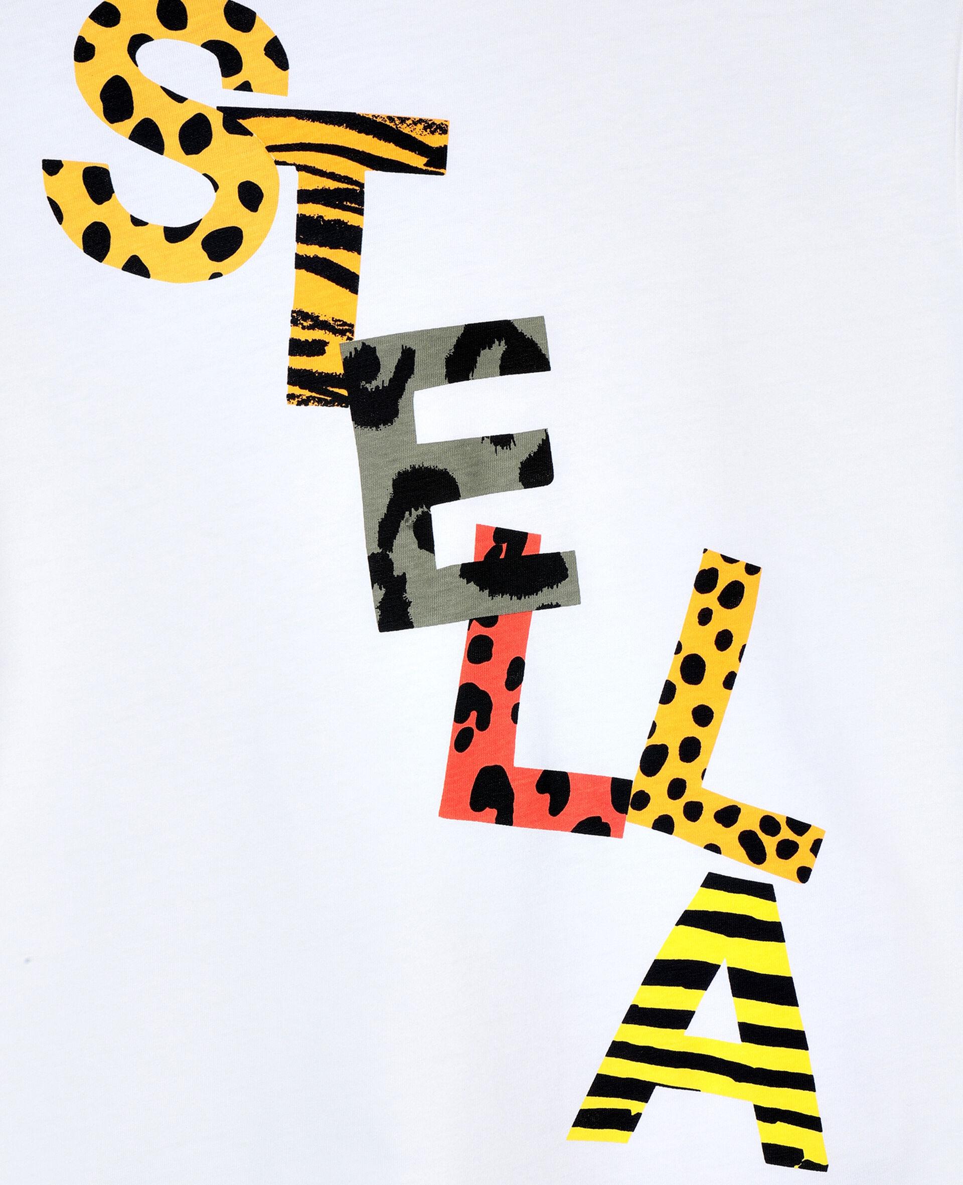 Cheetah Cotton Logo T-shirt -White-large image number 1