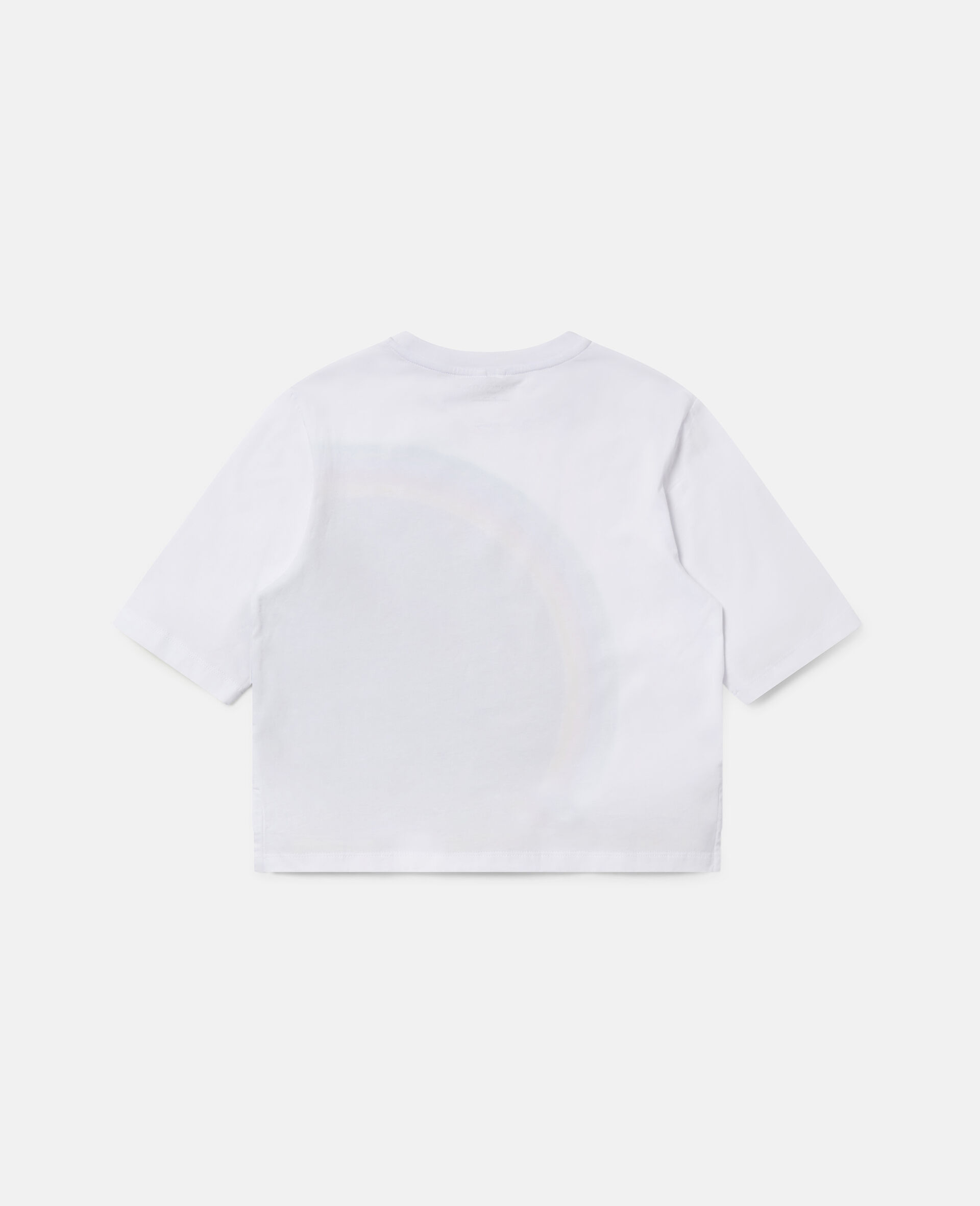 Übergroßes Sport-T-Shirt mit Streifen-Logo -Weiß-large image number 3