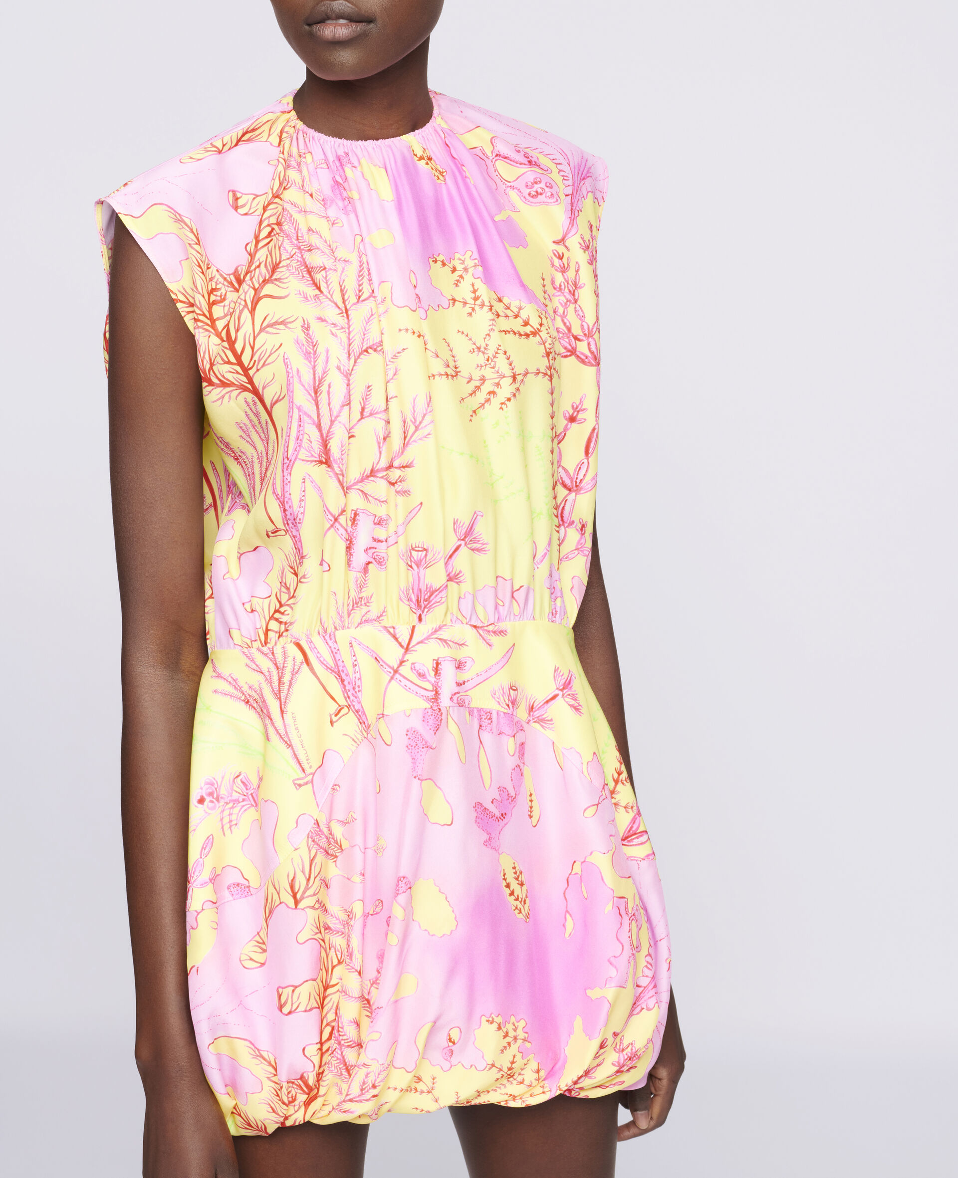 Bethany Silk Dress-Multicolour-large image number 3