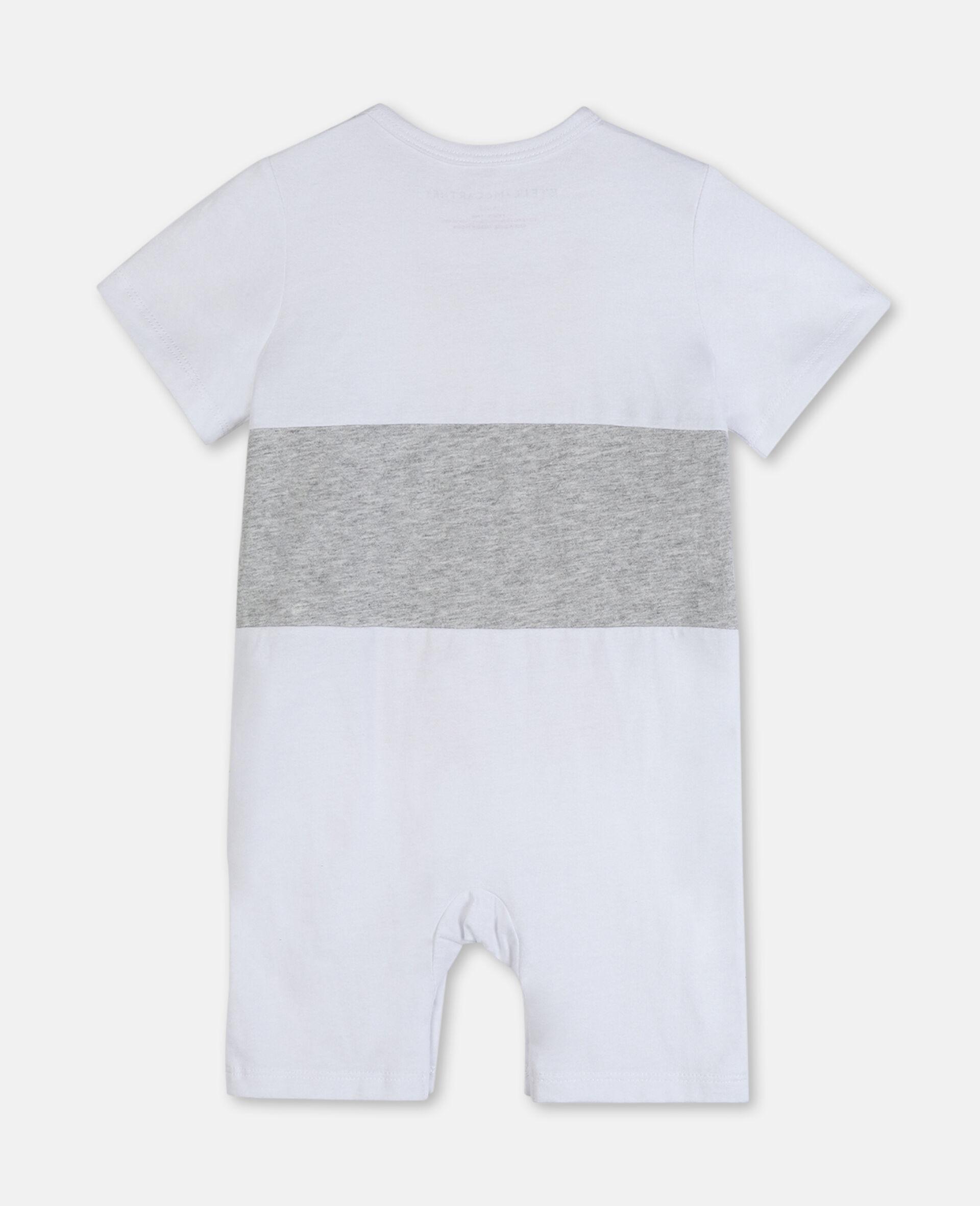 Tiger Cotton Jumpsuit-White-large image number 3