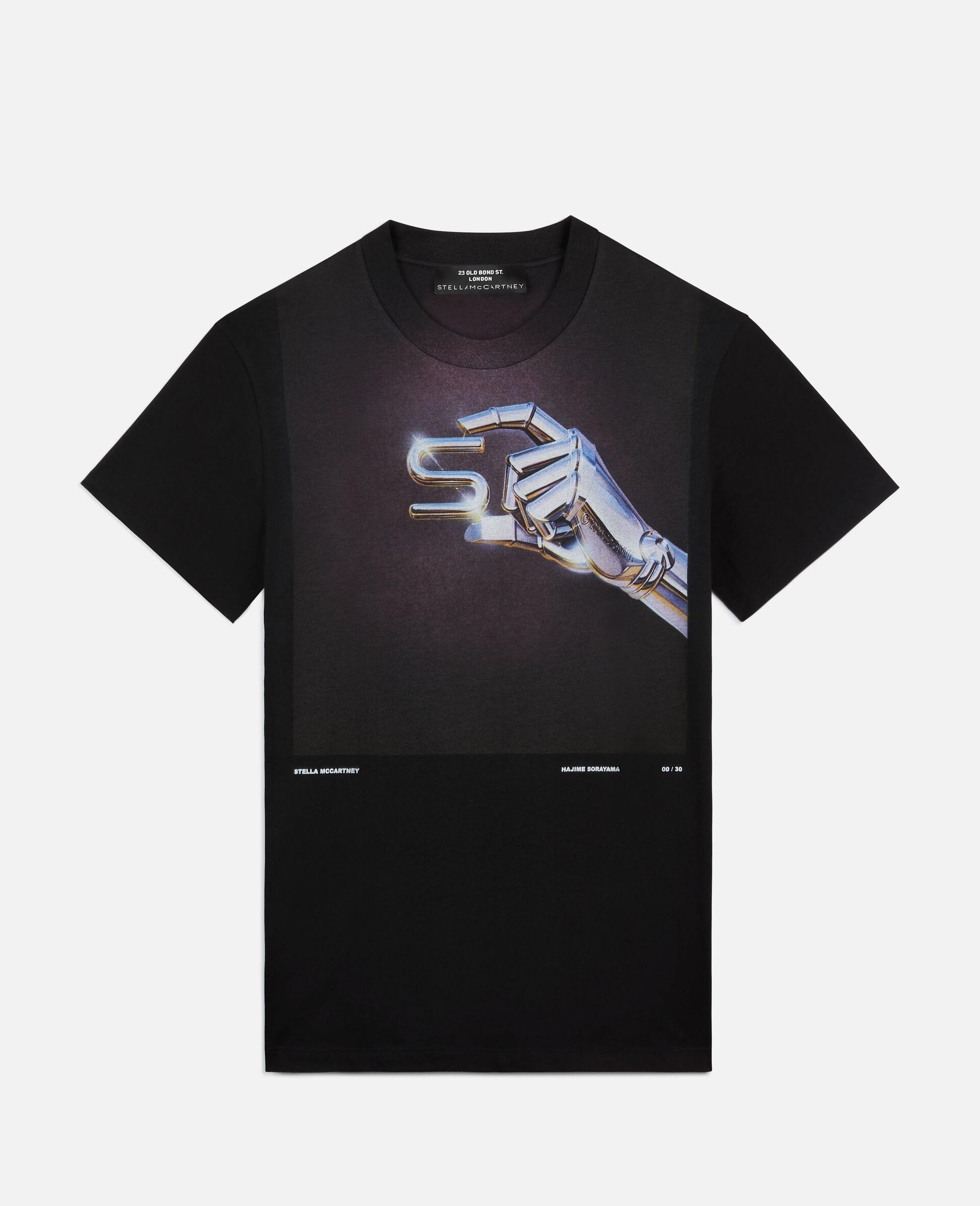 """Hajime Sorayama """"S"""" T-shirt-Black-large image number 0"""