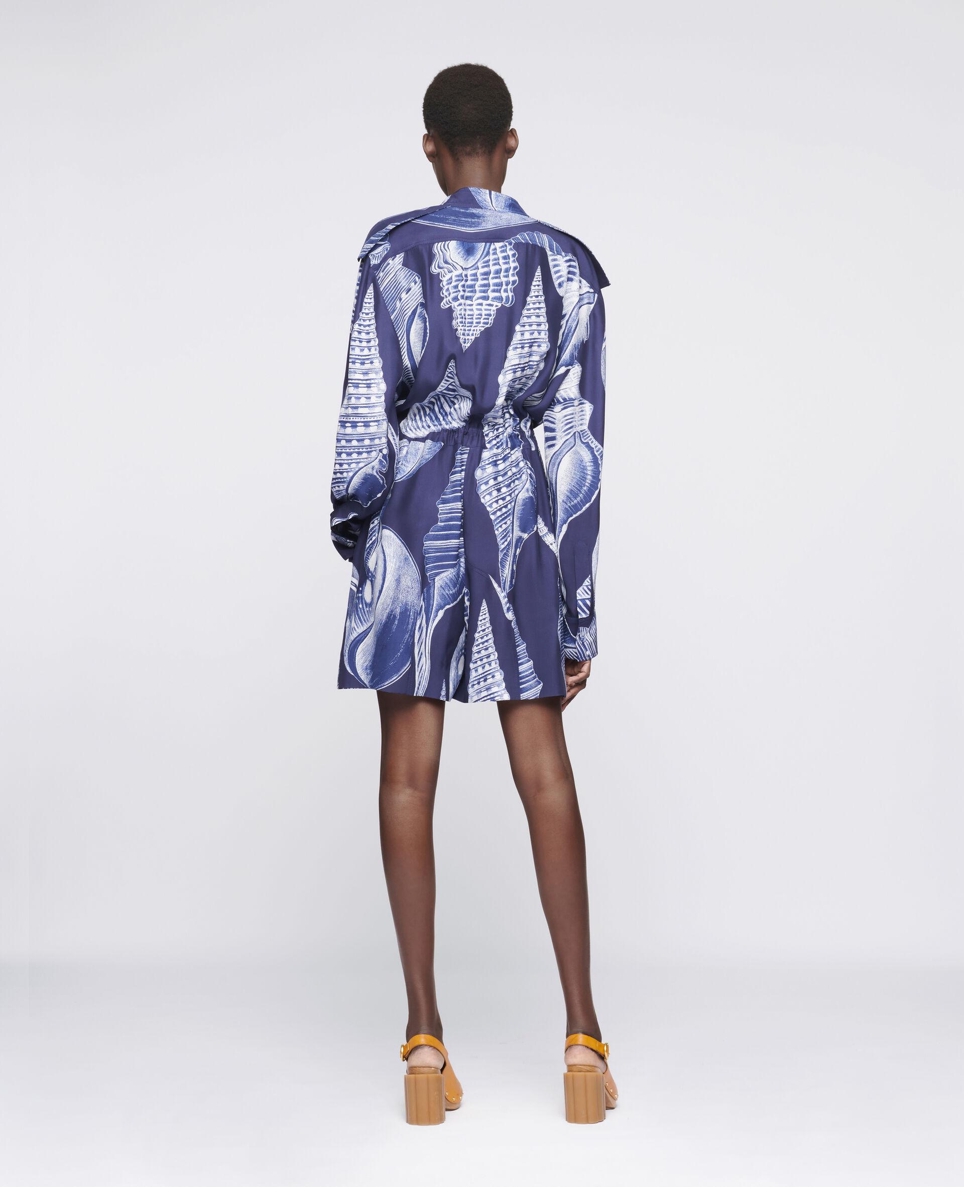Erin Silk Jumpsuit -Blue-large image number 2