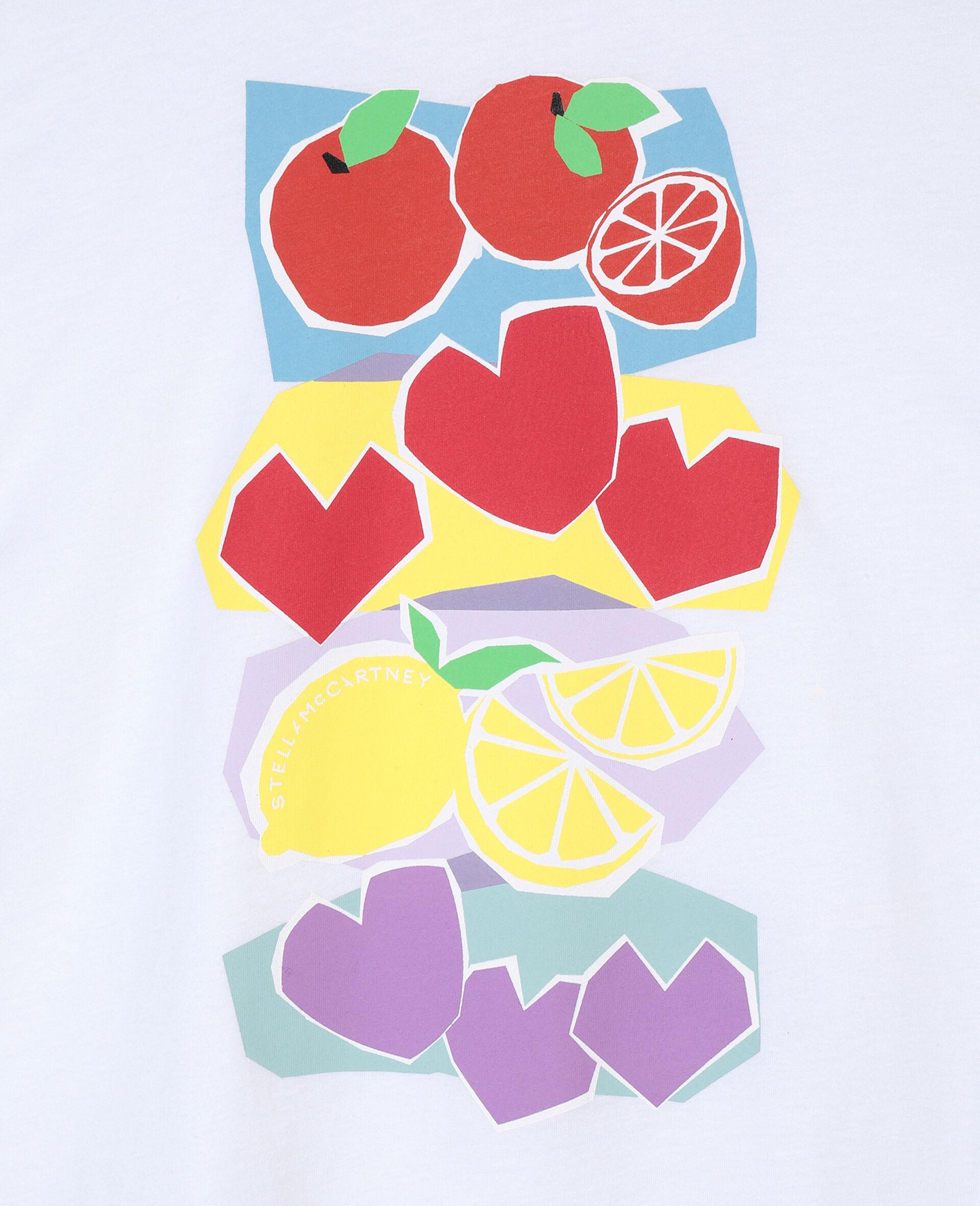Fruit Oversize Cotton T-shirt-Pink-large image number 1