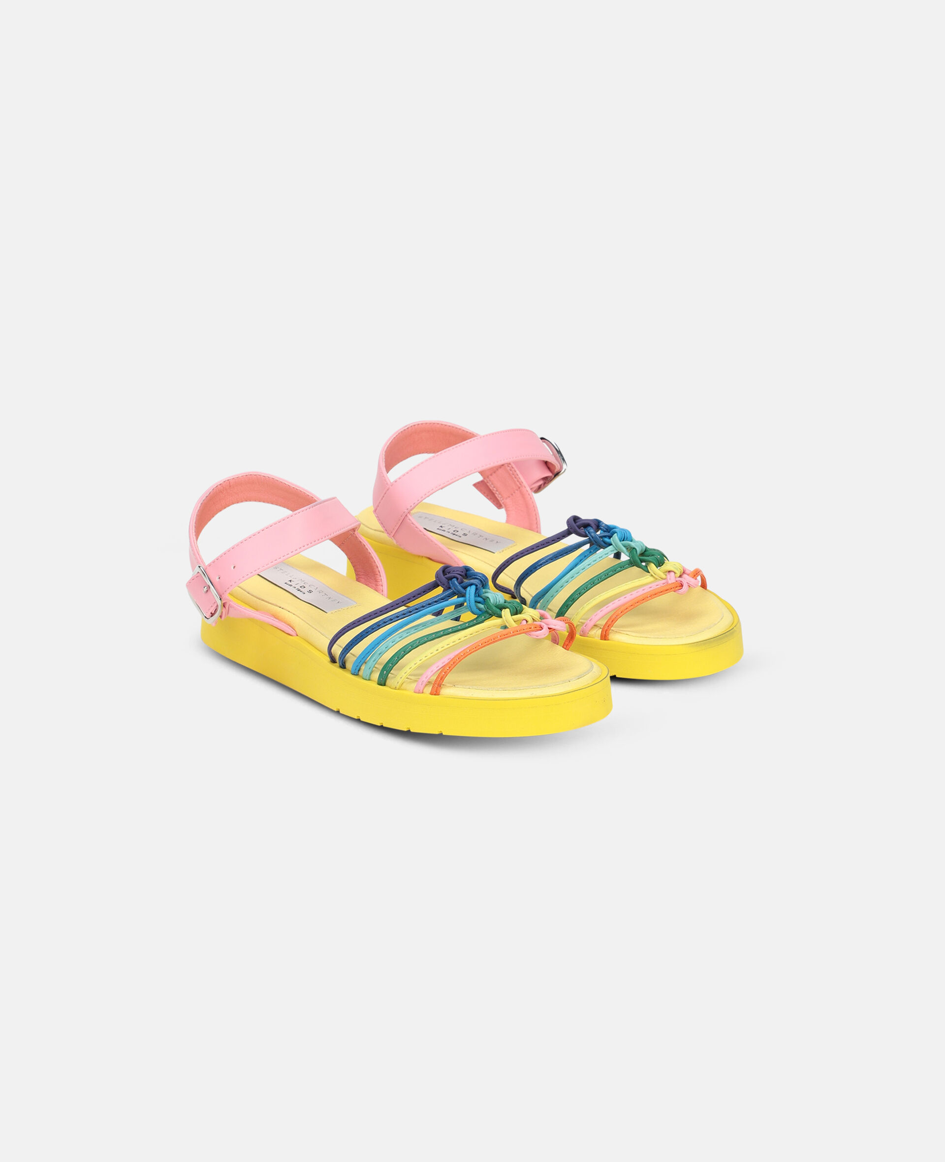 Multicolour Knotted Sandals -Multicolour-large image number 3