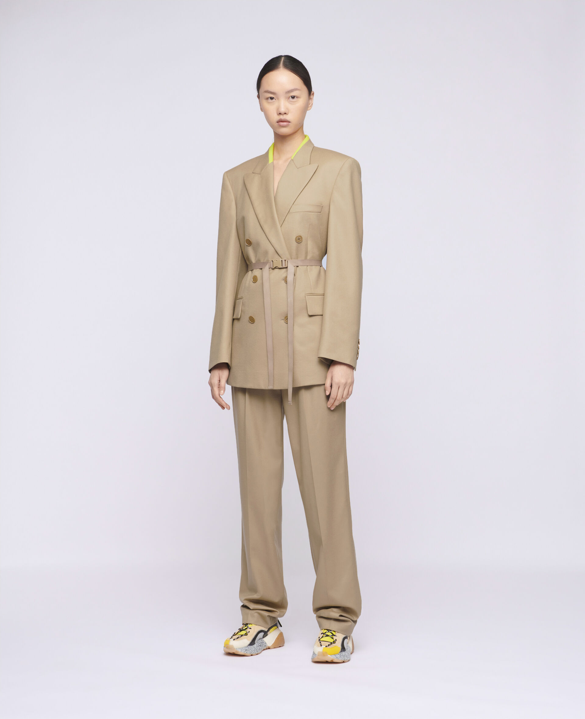 Lola Tailored Jacket-Brown-large image number 1