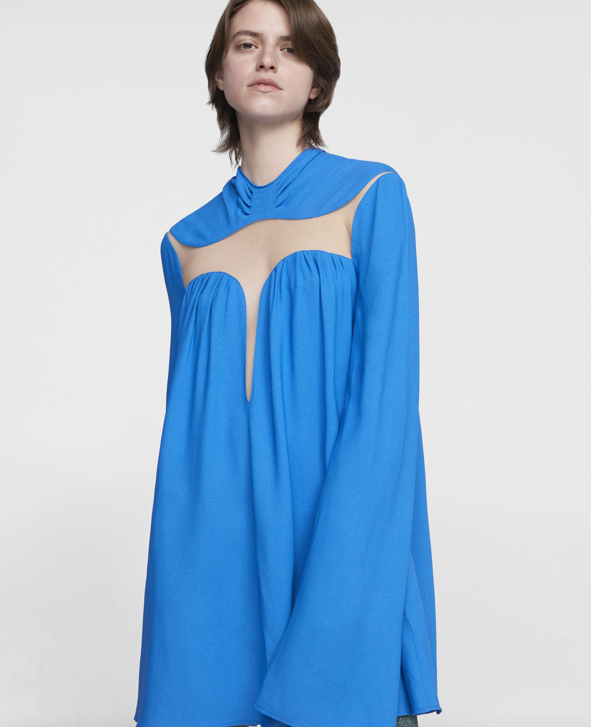 Cordelia Mini Dress-Blue-large image number 3
