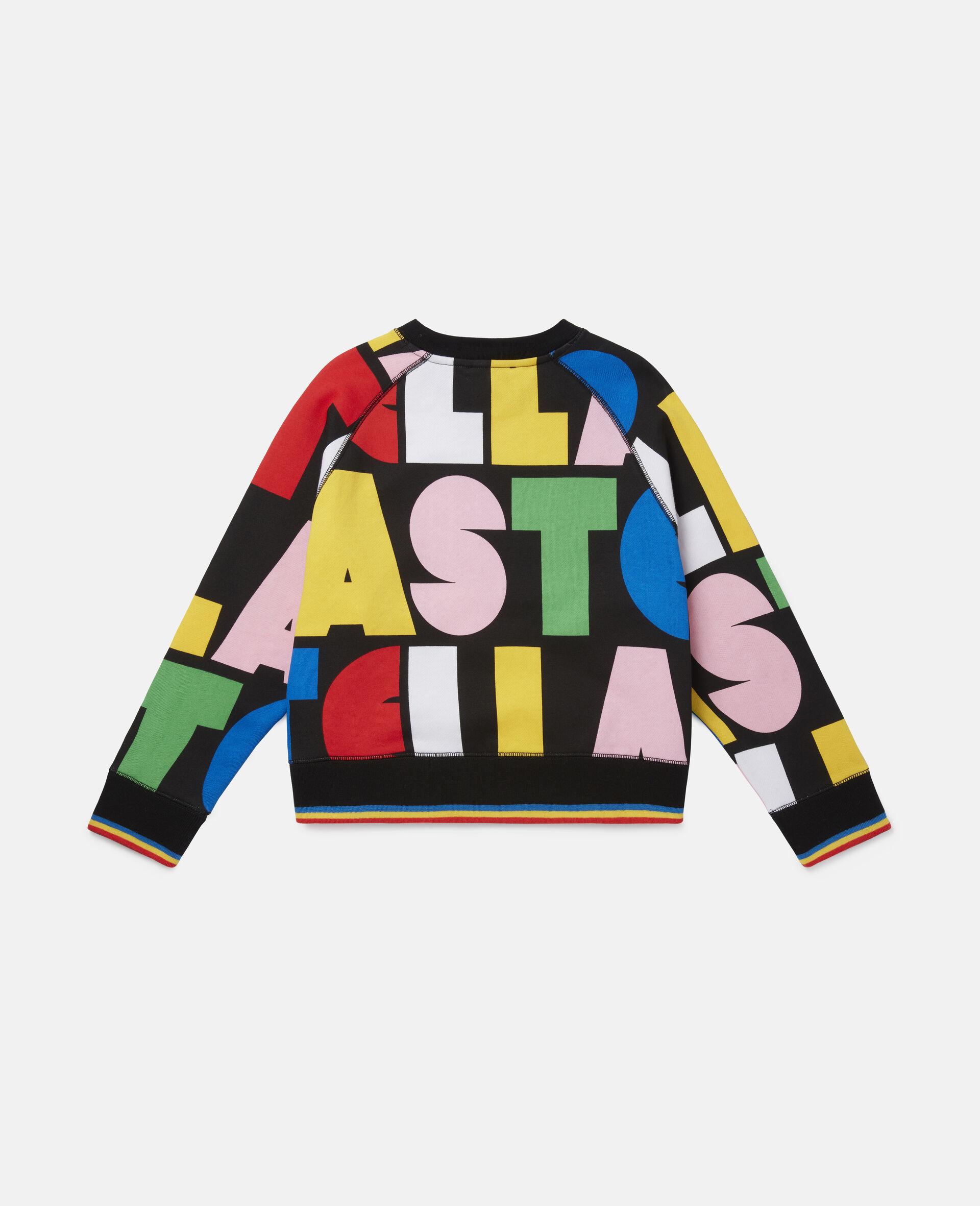 Stella Oversize Fleece Sweatshirt -Multicolour-large image number 3
