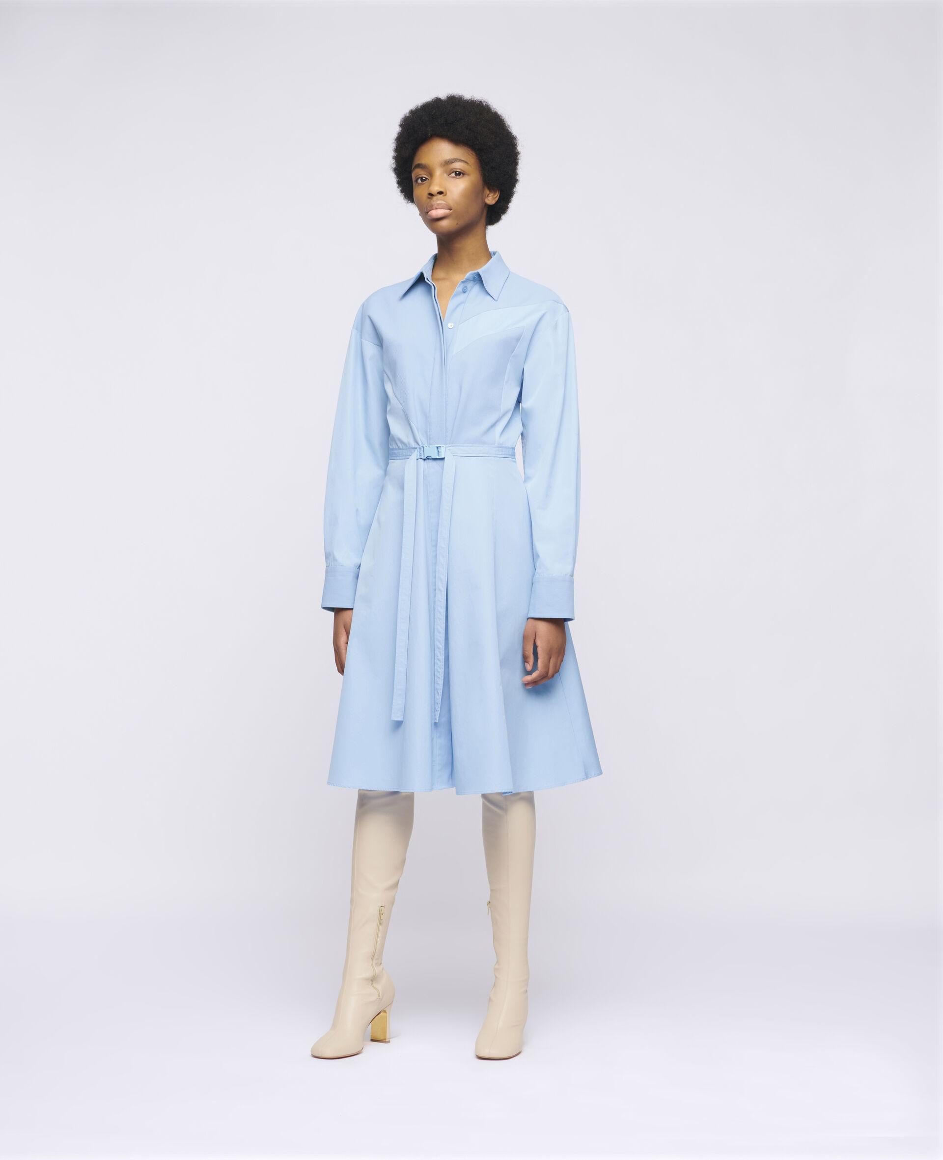 Mia Cotton Dress-Blue-large image number 1