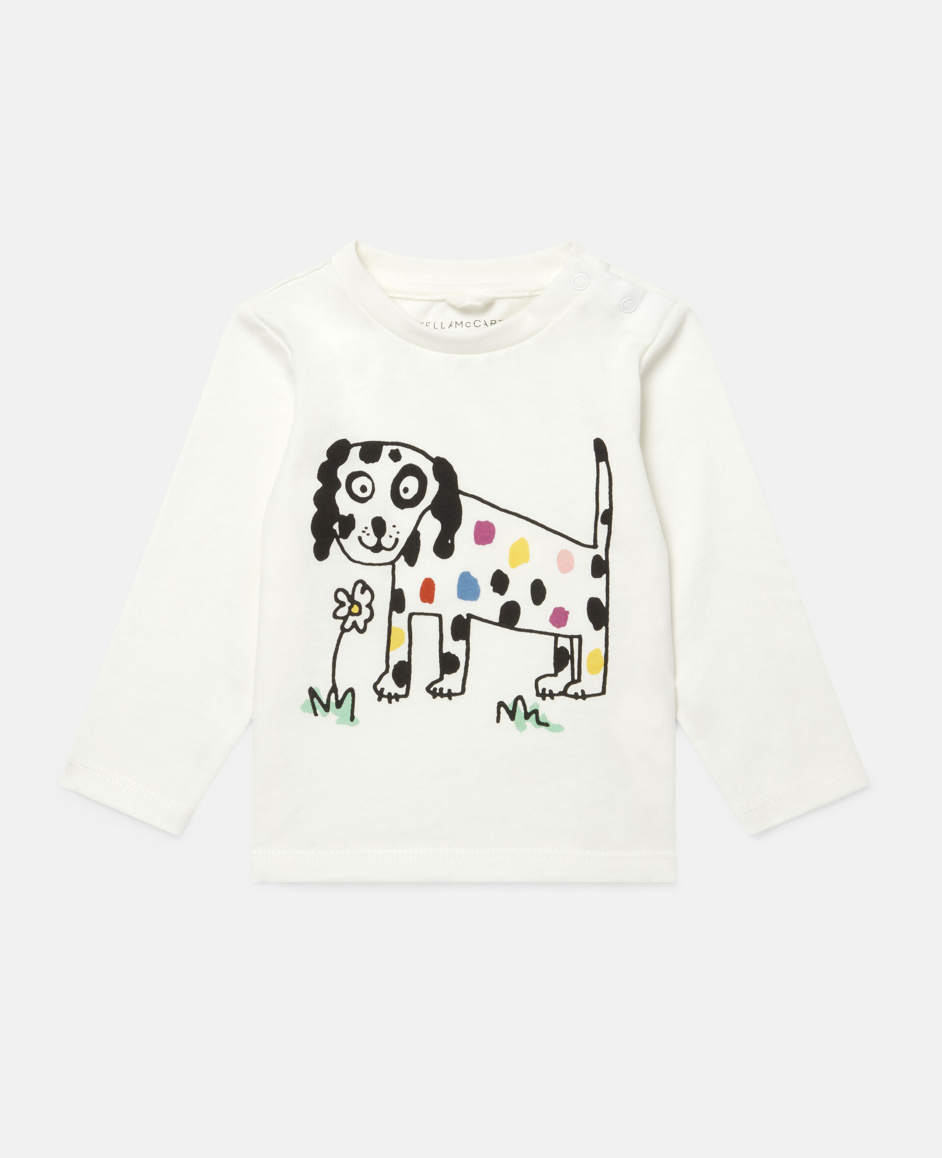 Flower Doggie Top-White-large image number 0