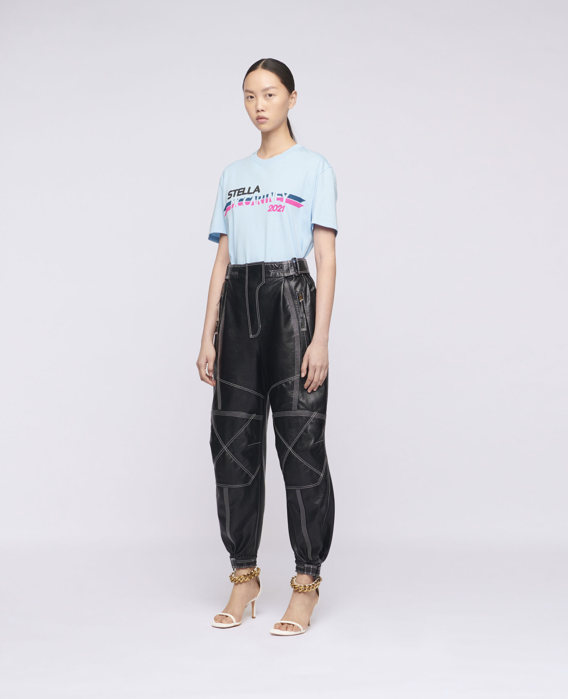 Stella McCartney 2021 徽标 T 恤-蓝色-large image number 1
