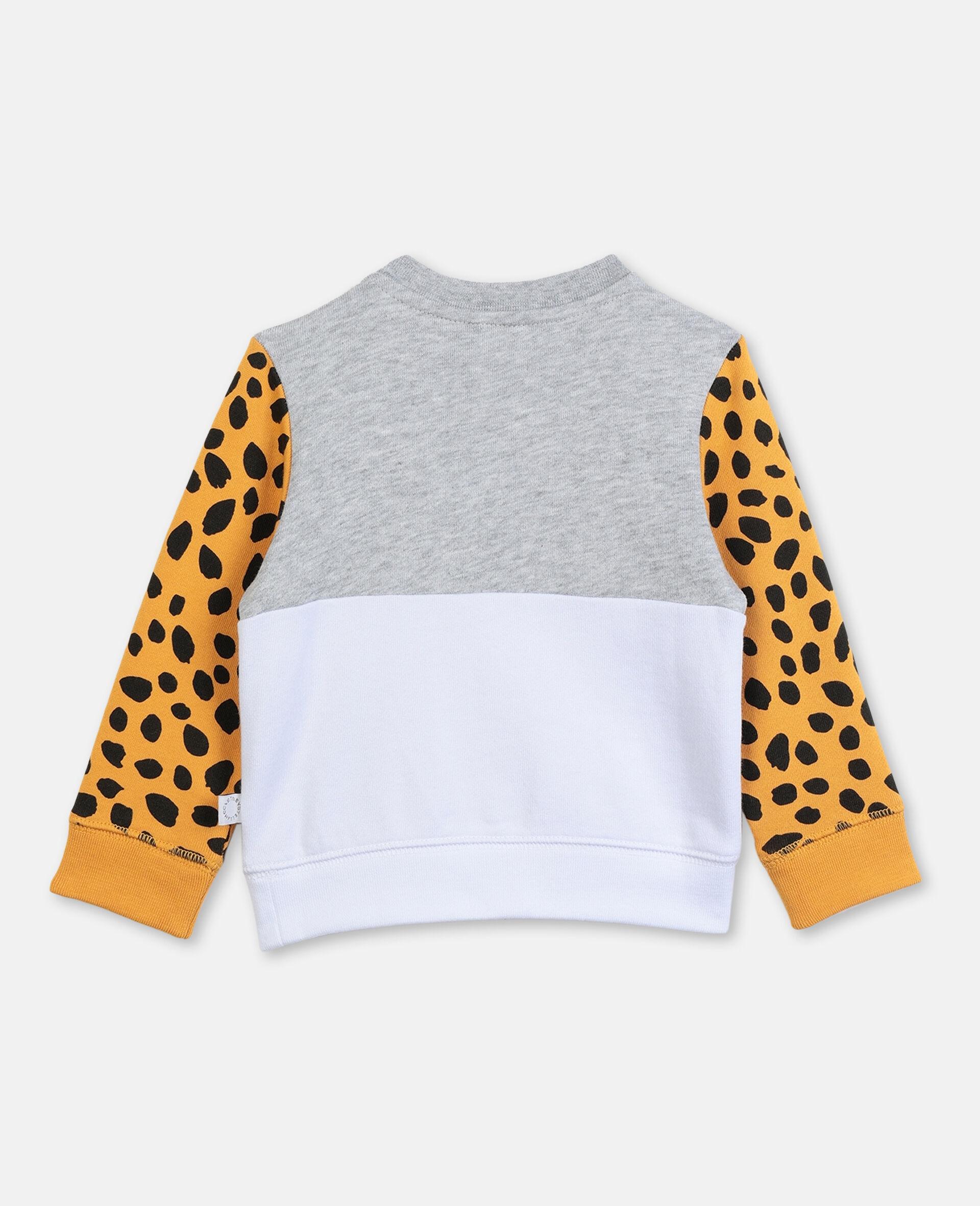 Sweat-shirt en coton à motif tigre-Gris-large image number 3